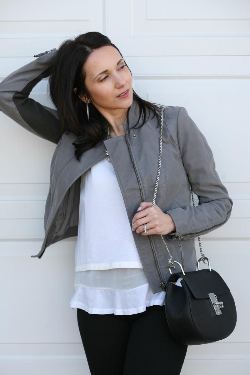 Suede Jacket, Chloe Drew Bag