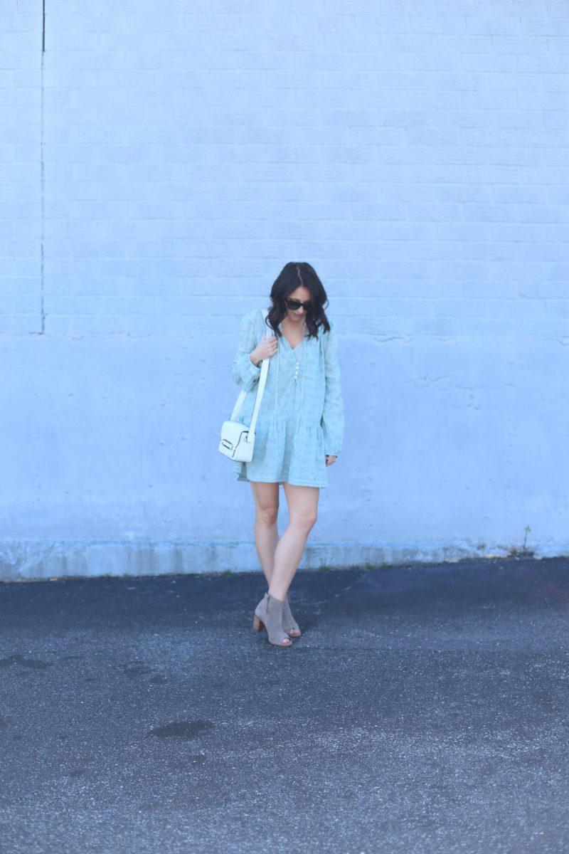 spring tunic, booties fashion