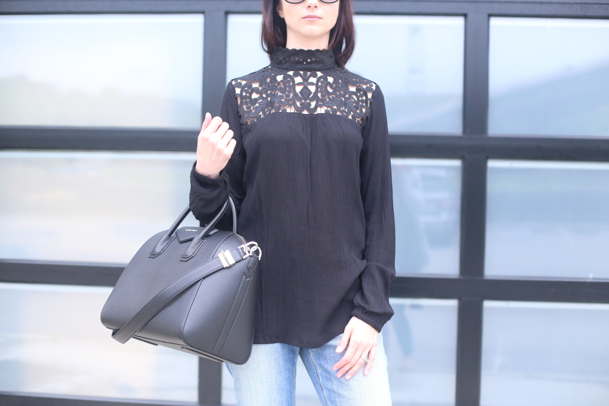 Mock Neck Top Target Style