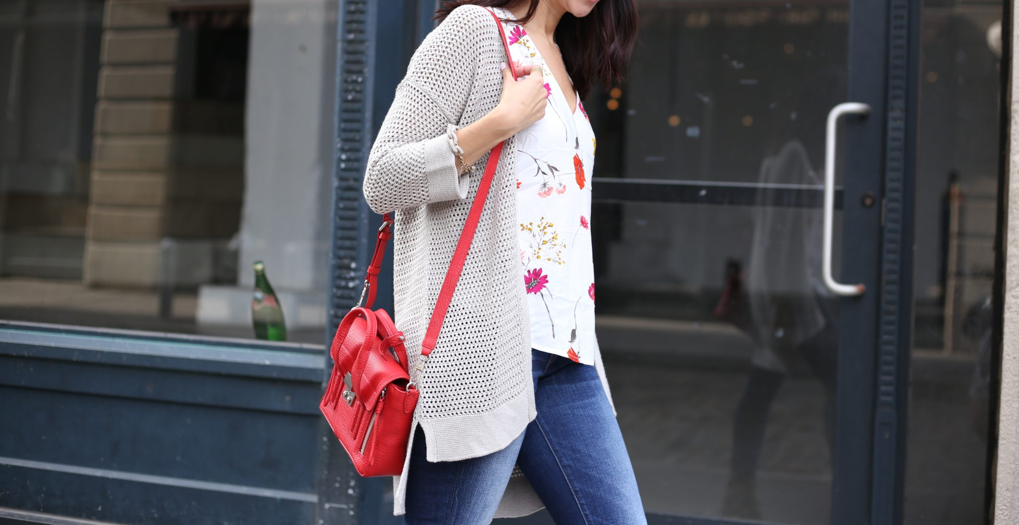 Crochet Cardi and Fall Florals