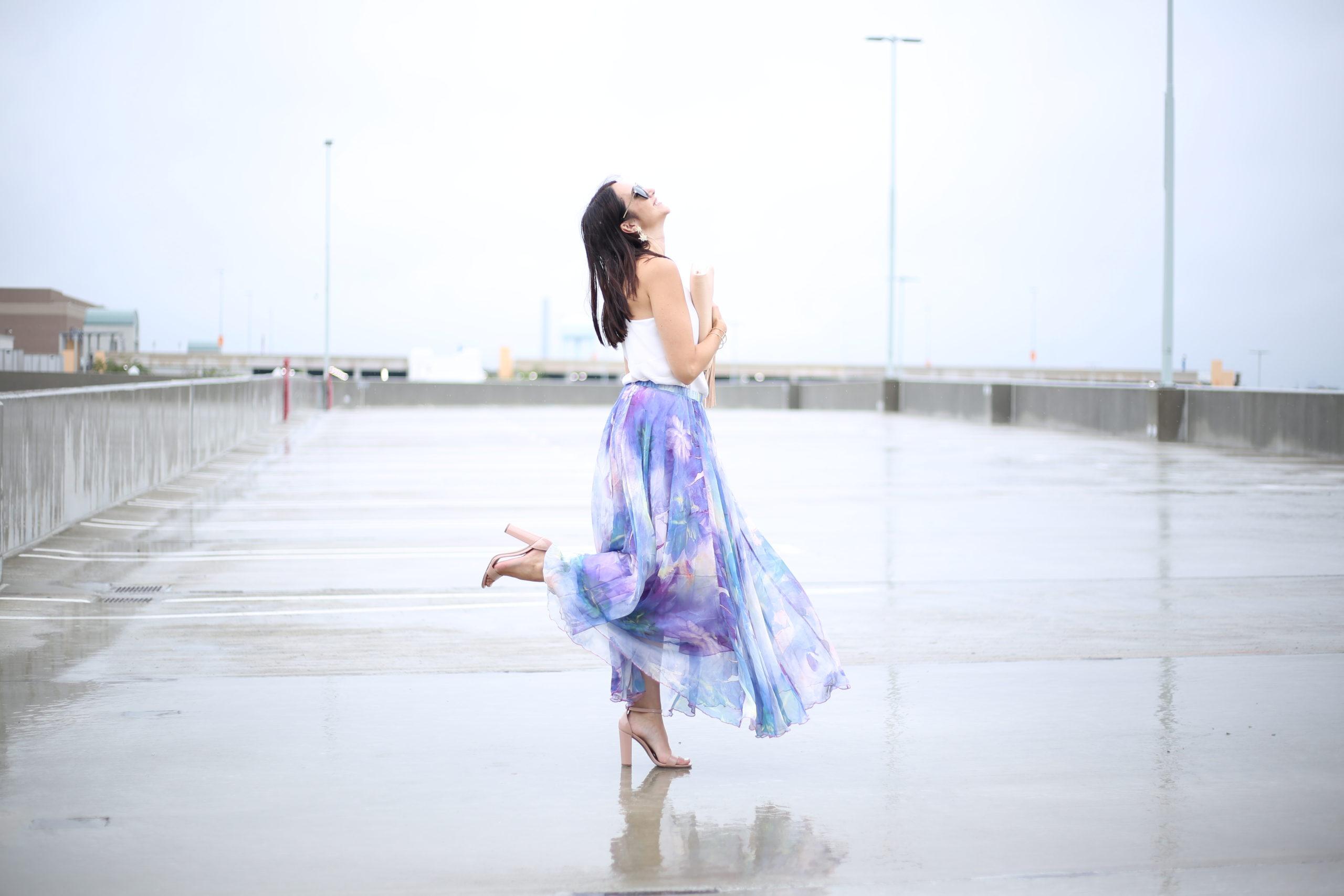 Maxi Skirt- The Watercolor Dream