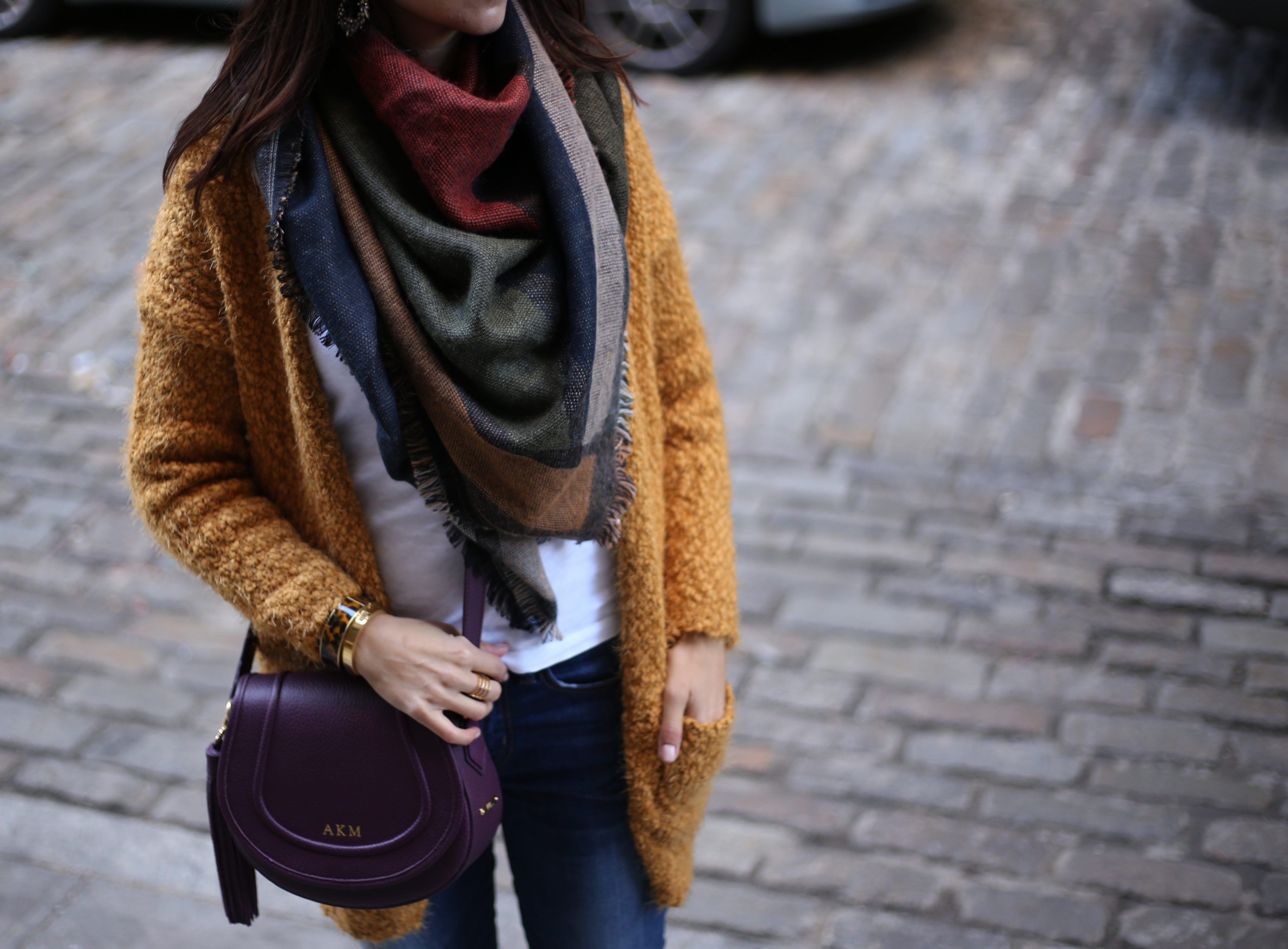 Open Cardigan & Blanket Scarf – A cold day In Brooklyn