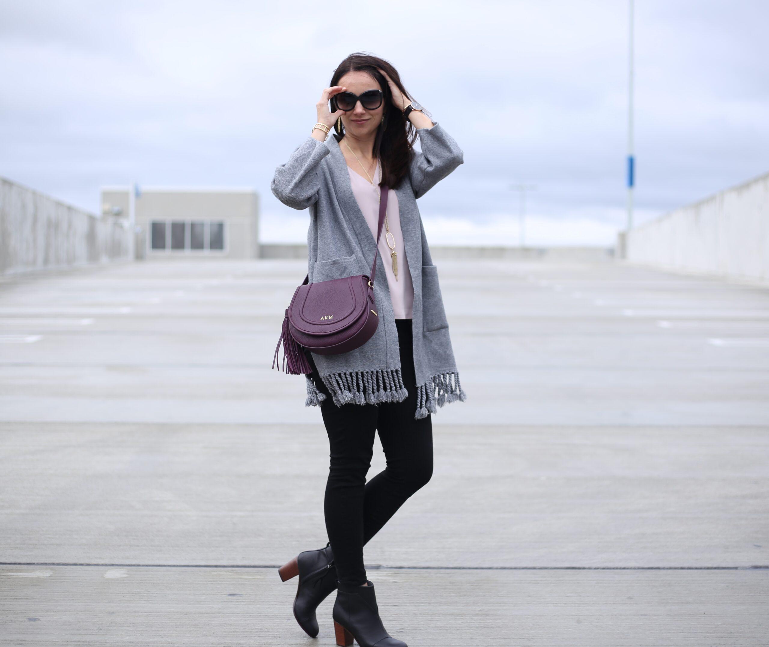 fall outfit crossbody bag