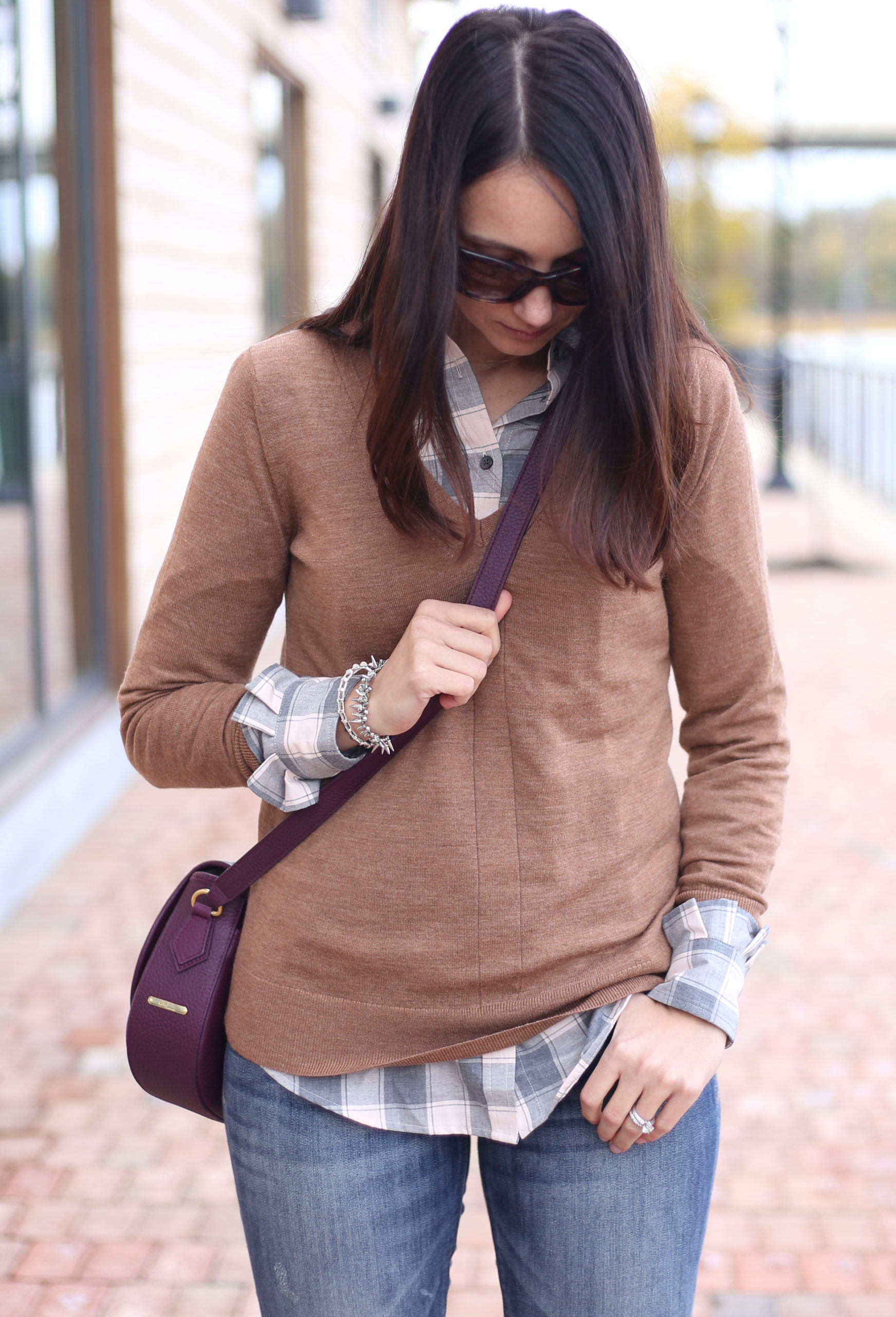 Cozy Sweater Vest & Plaid Button Down with Banana Republic (and a GIVEAWAY)