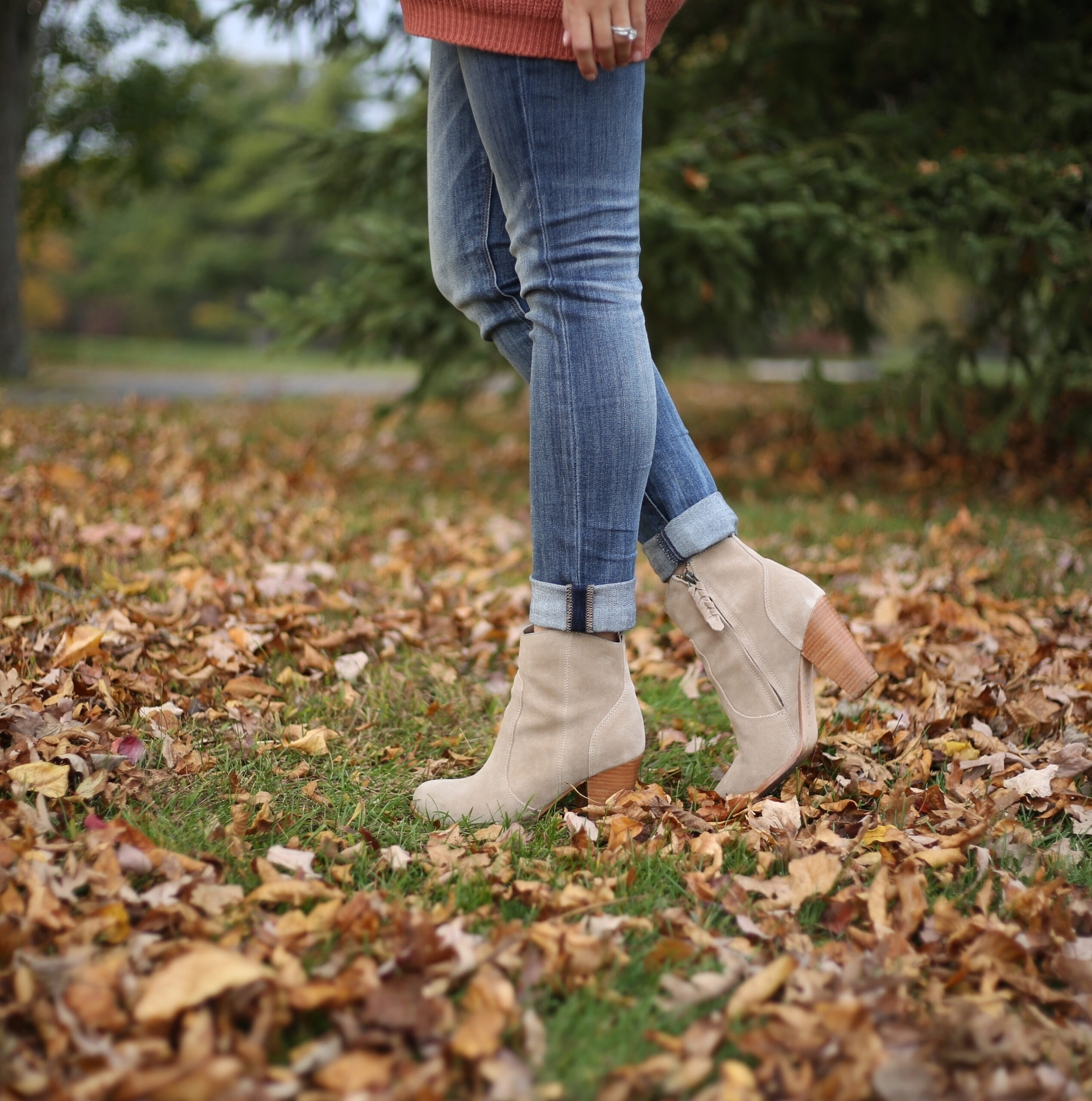 suede booties for the fall