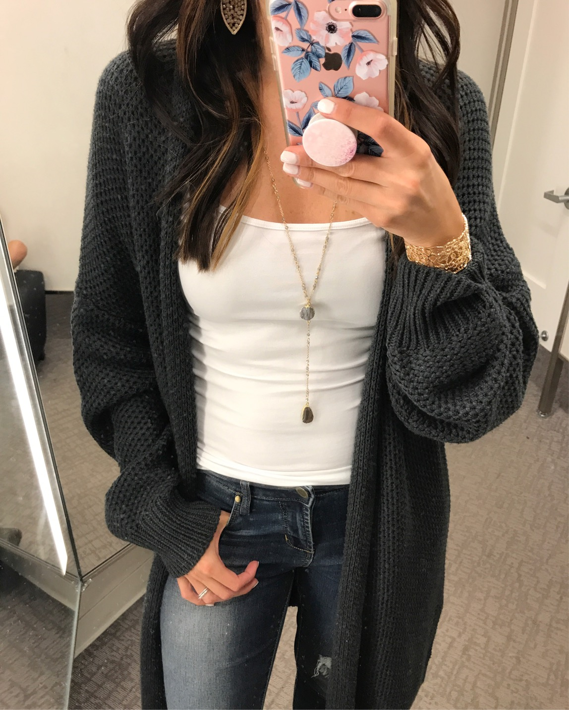 anna monteiro wearing blushing rose style cardigan nsale back in stock from nordstrom anniversary sale 2017