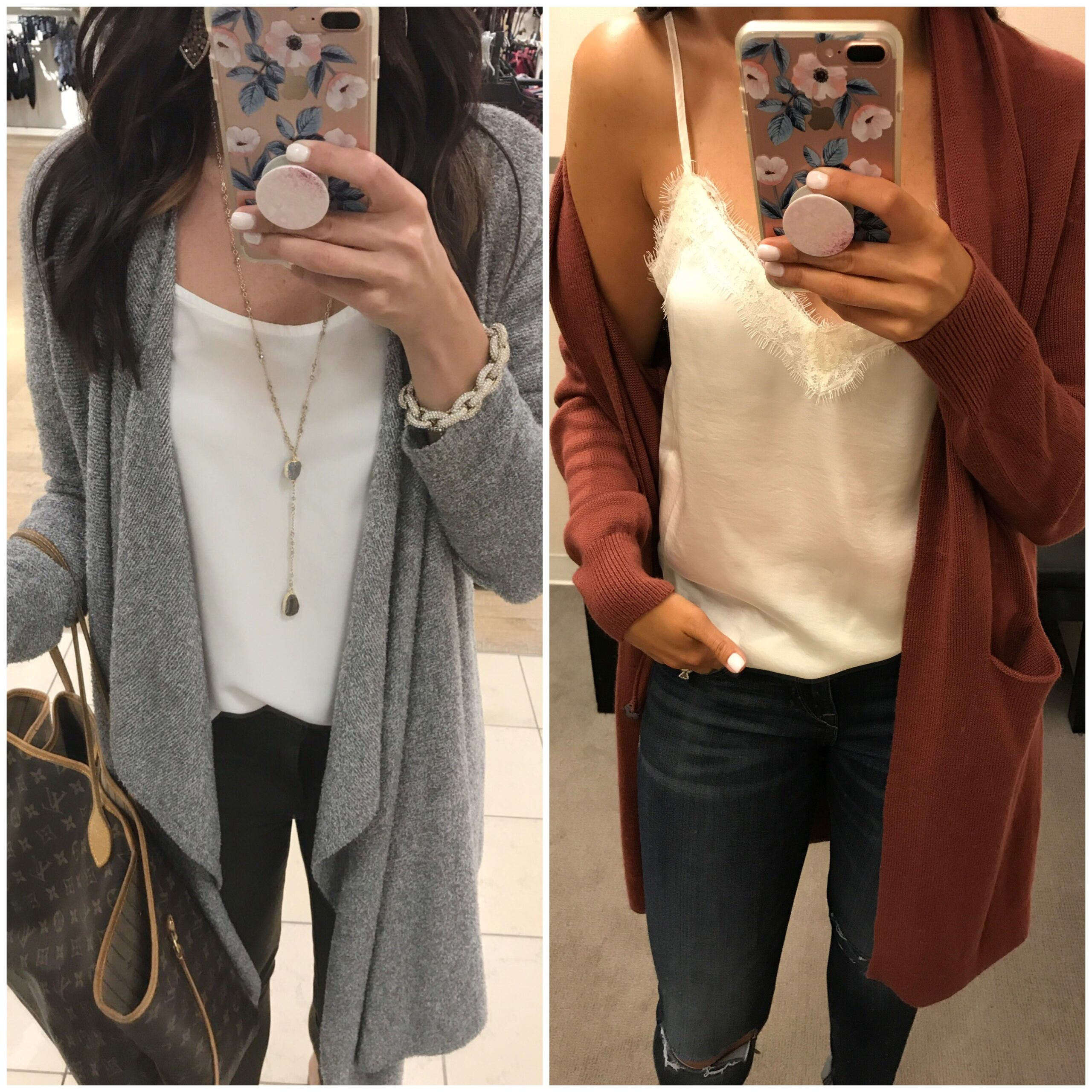 Anna Monteiro wearing Barefoot Dreams cardigan and Lush cardigan from the Nordstrom Anniversary Sale 2017