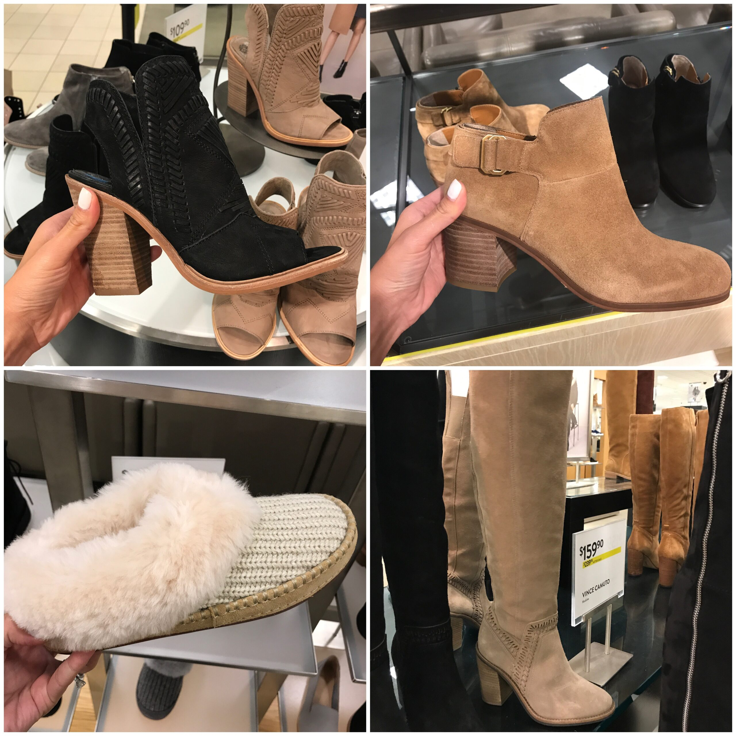 Anna Monteiro of Blushing Rose Style fashion blog wearing shoes and boots from Nordstrom Anniversary Sale 2017