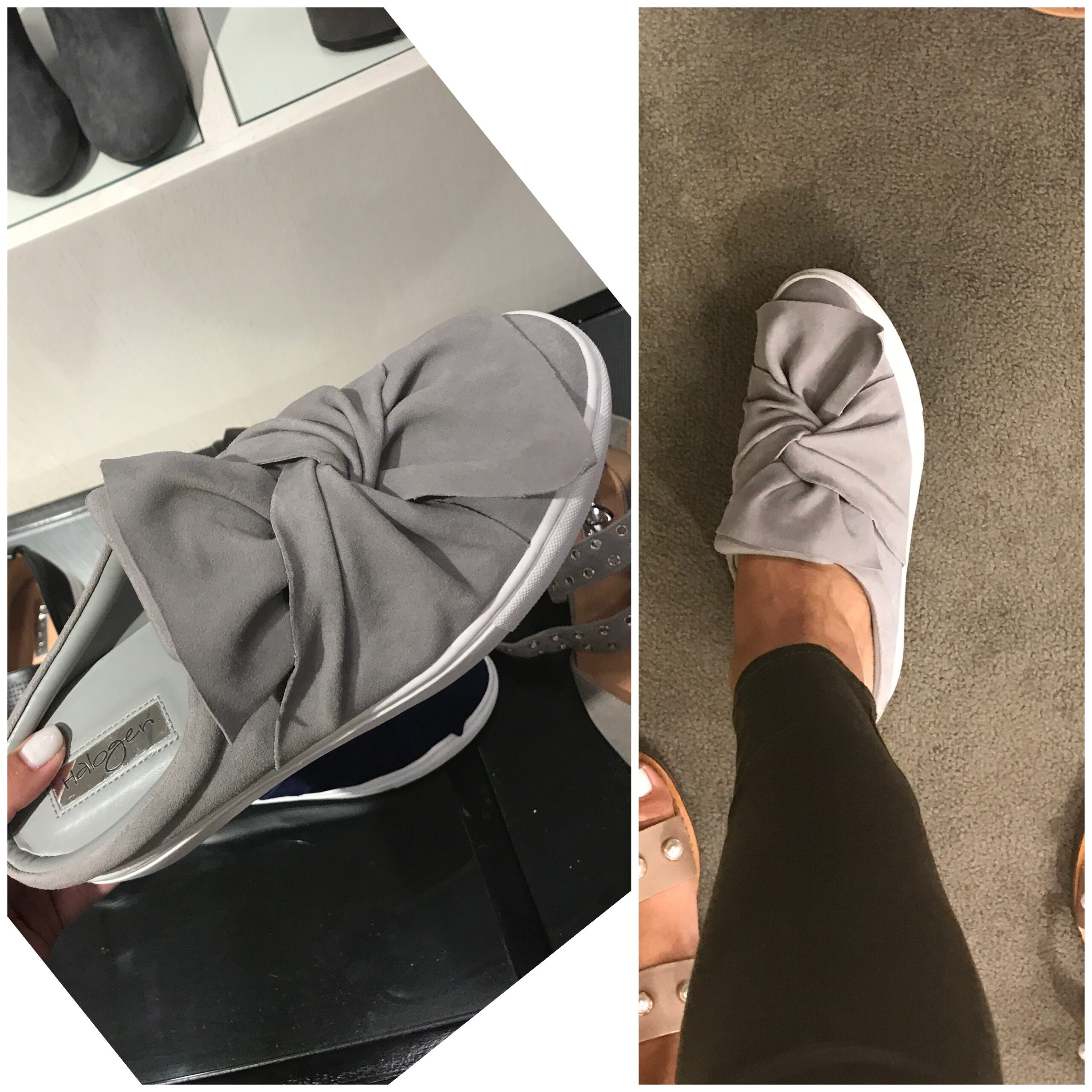 fashion blogger Anna Monteiro of Blushing Rose Style blog wearing halogen bow sneakers from Nordstrom Anniversary Sale 2017
