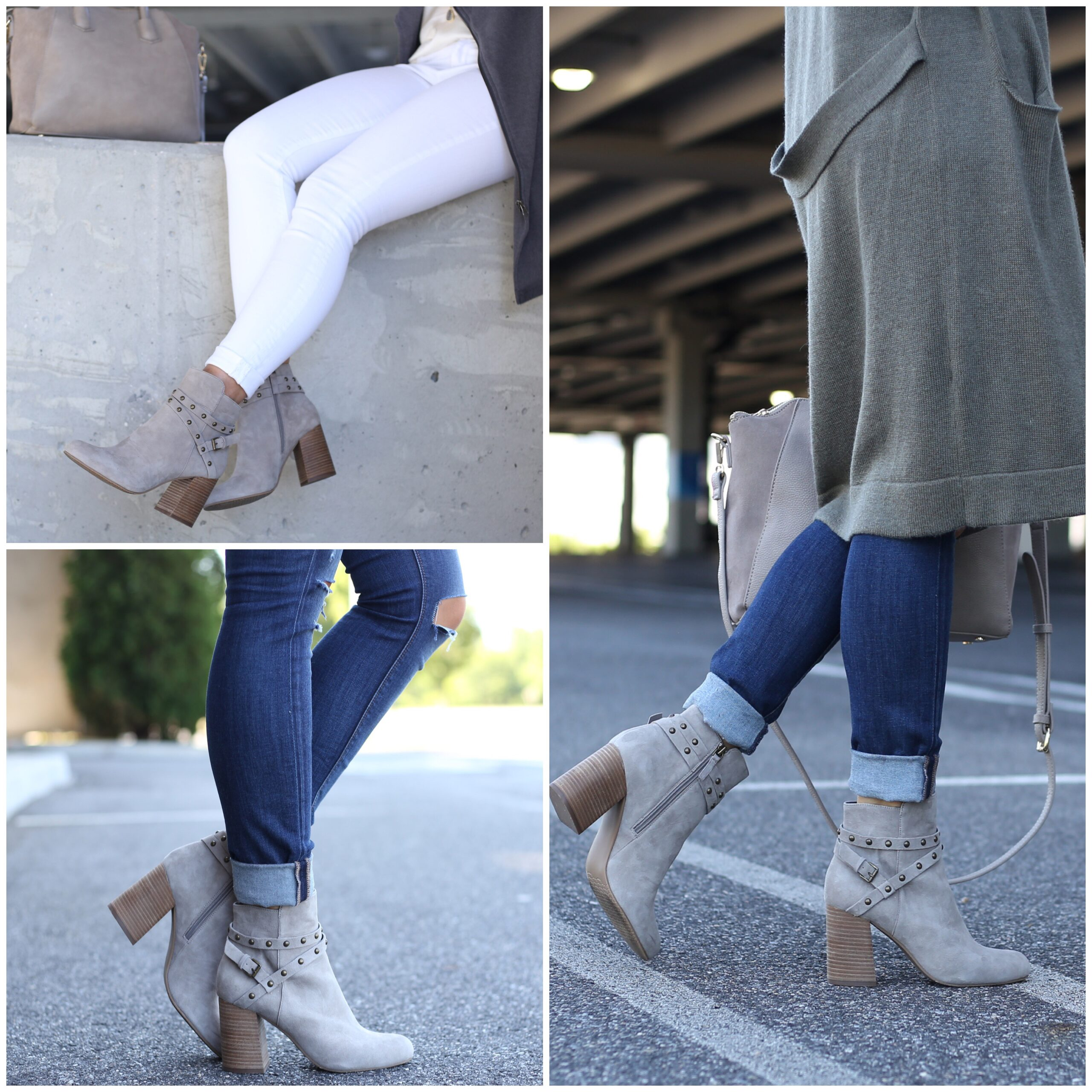 Anna Monteiro of Blushing Rose Style wearing BP. booties from the Nordstrom Anniversary Sale 2017