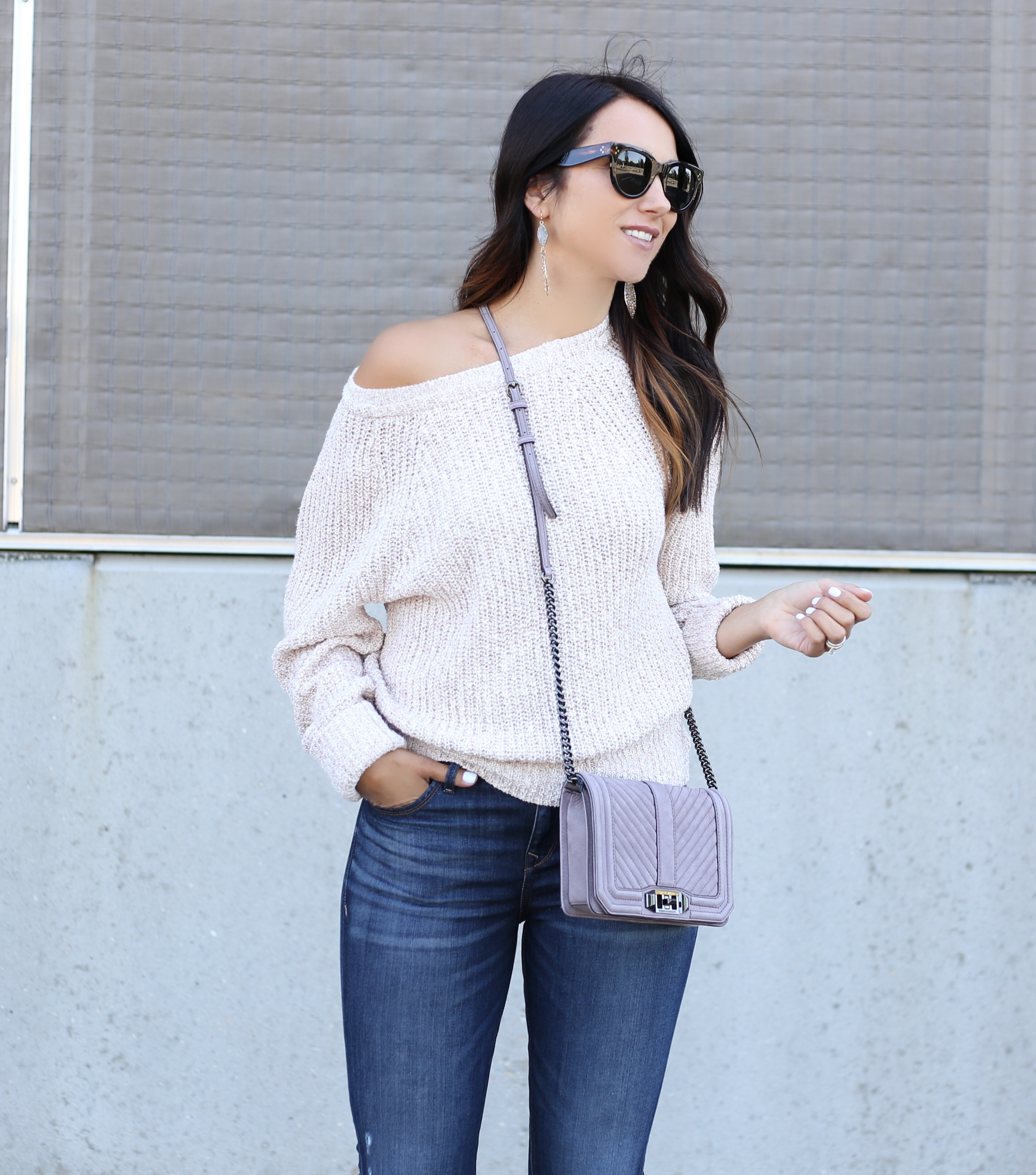 fashion blogger Anna Monteiro of Blushing Rose Style wearing Free People pullover from Nordstrom Anniversary Sale 2017