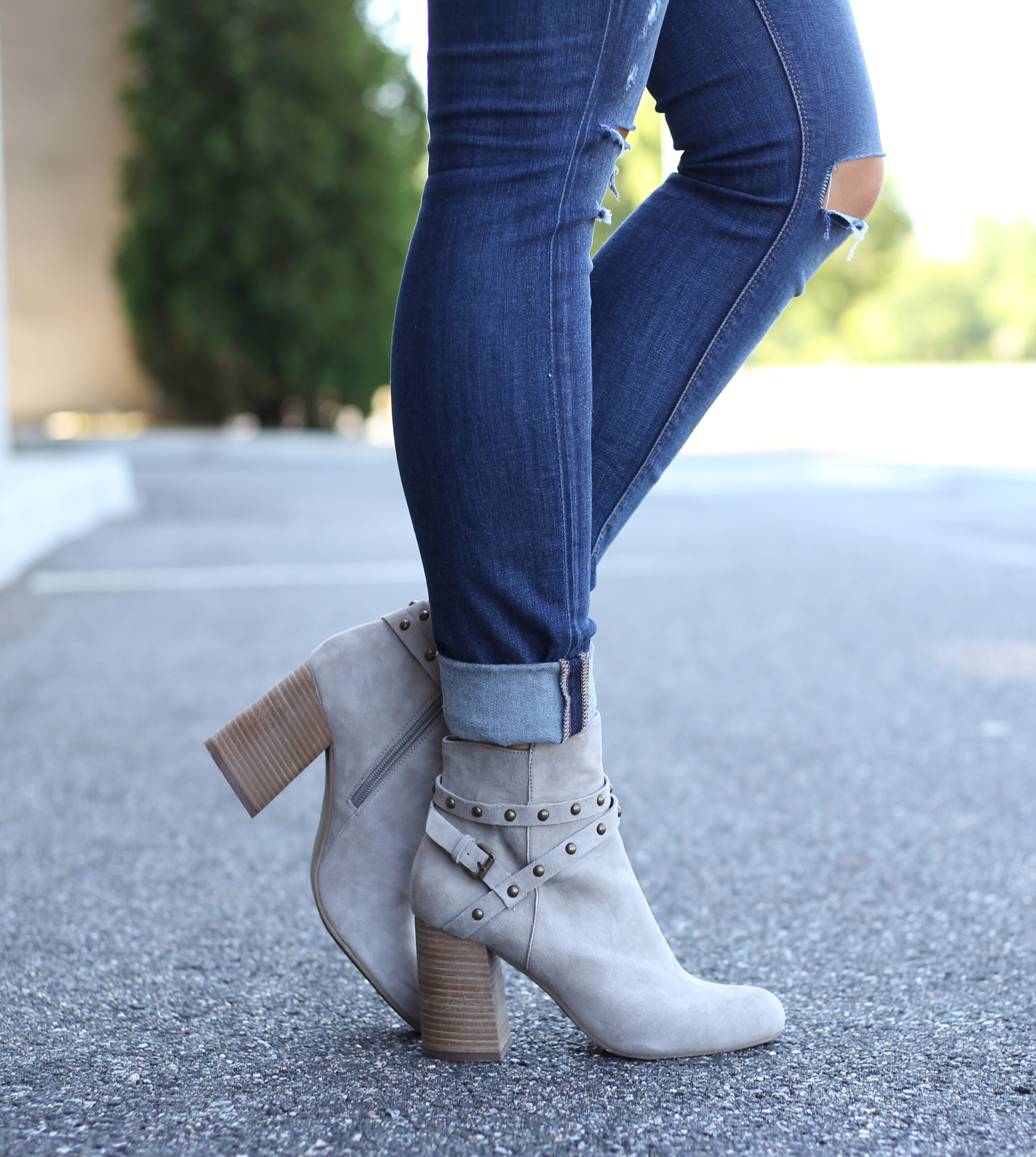 fashion blogger Anna Monteiro wearing BP. kolo booties from the Nordstrom Anniversary Sale 2017