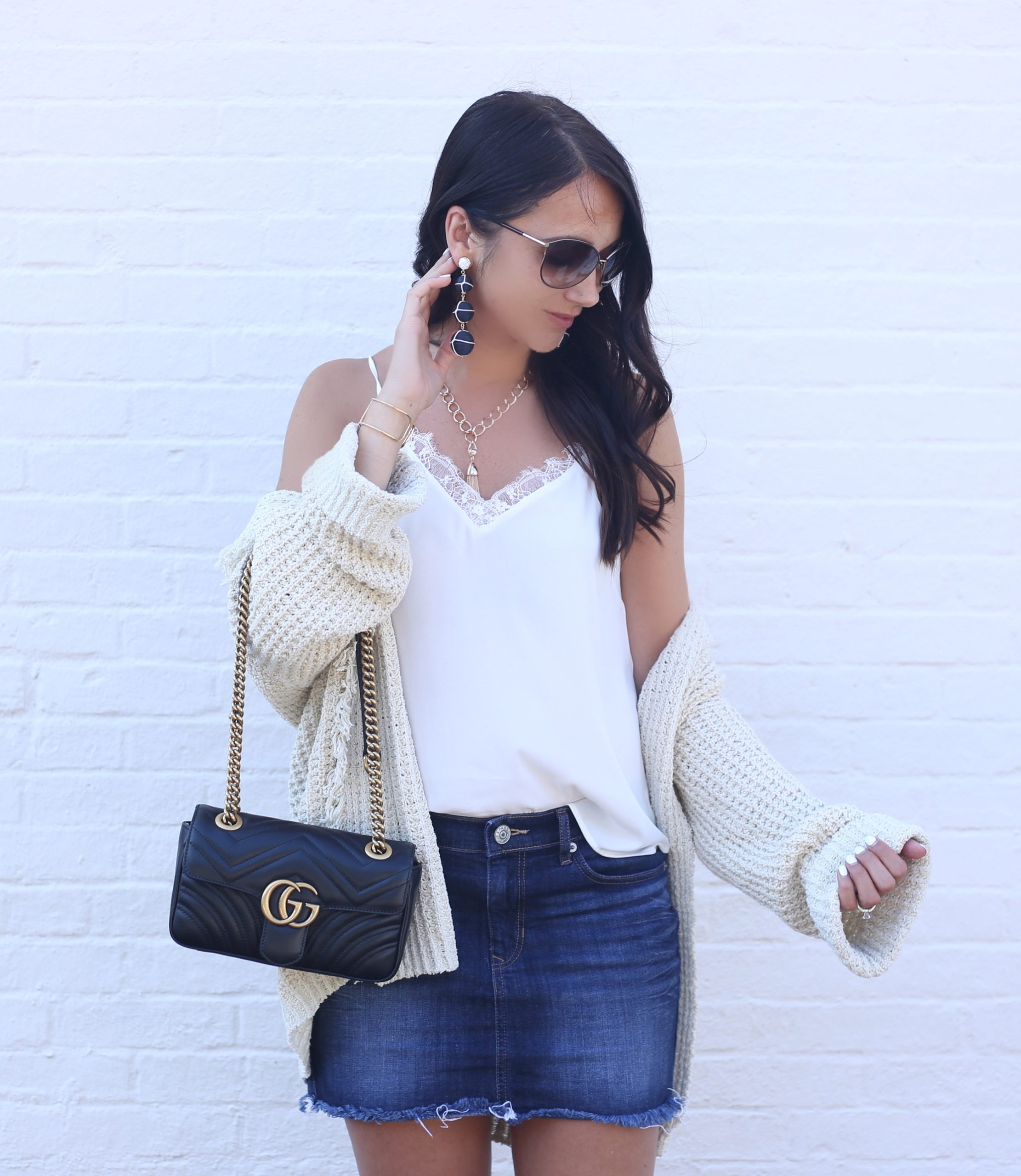 blogger Anna Monteiro of BlushingRose Style wearing free people cardigan from Nordstrom anniversary sale 2017