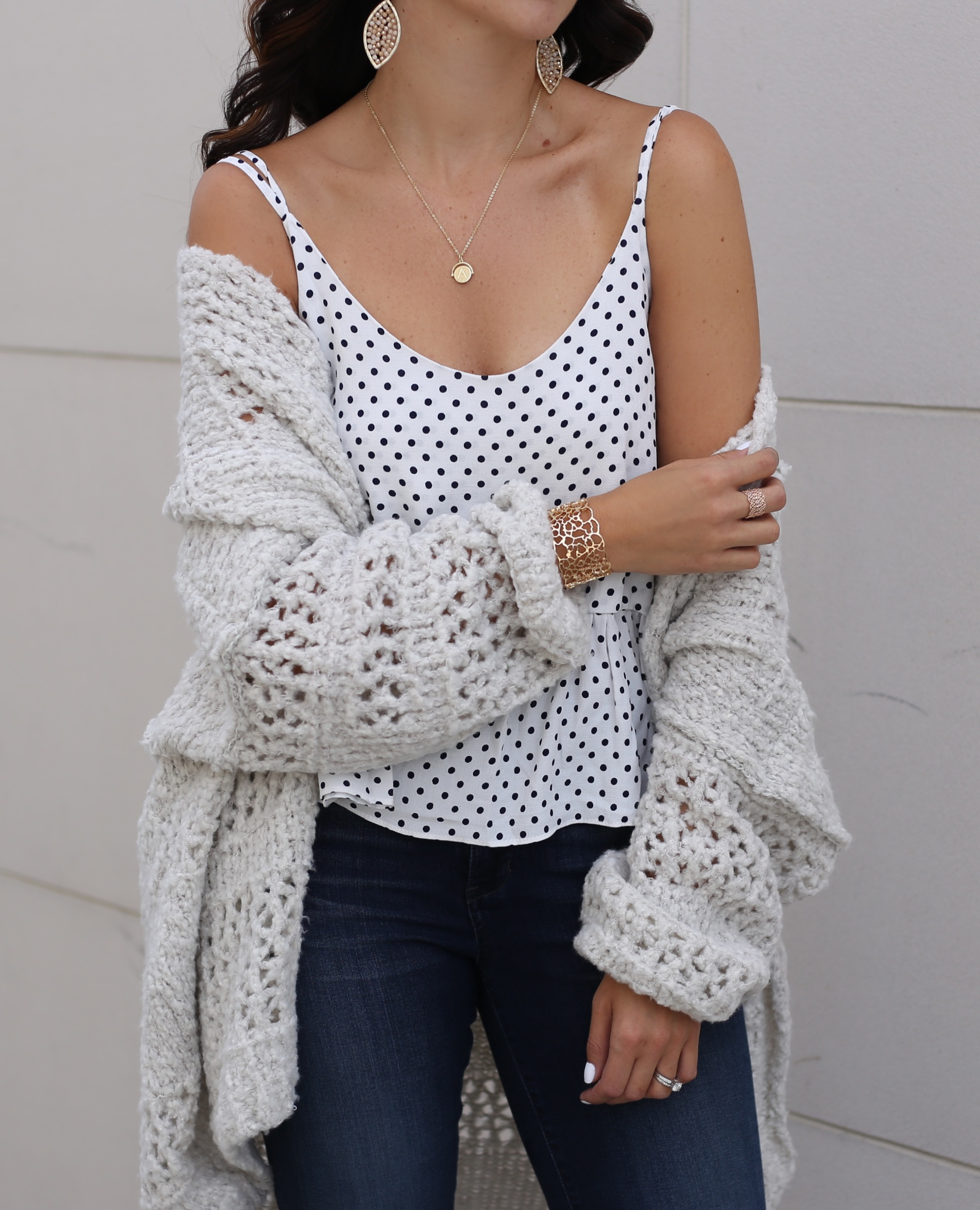 fashion blogger Anna Monteiro of blushing rose style blog wearing perfect fall cardigans including Free People Saturday Morning cardigan from Nordstrom