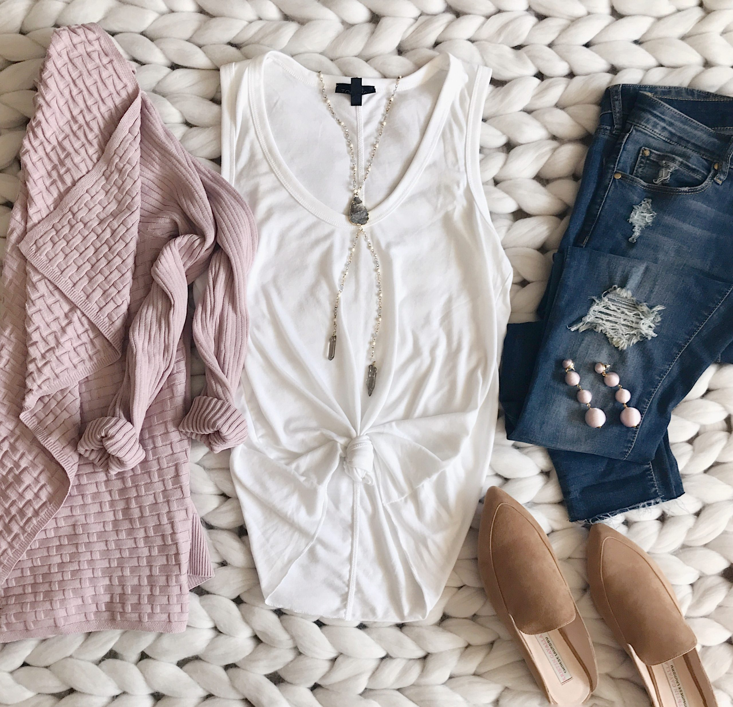 Blushing Rose Style fall outfits flatlay