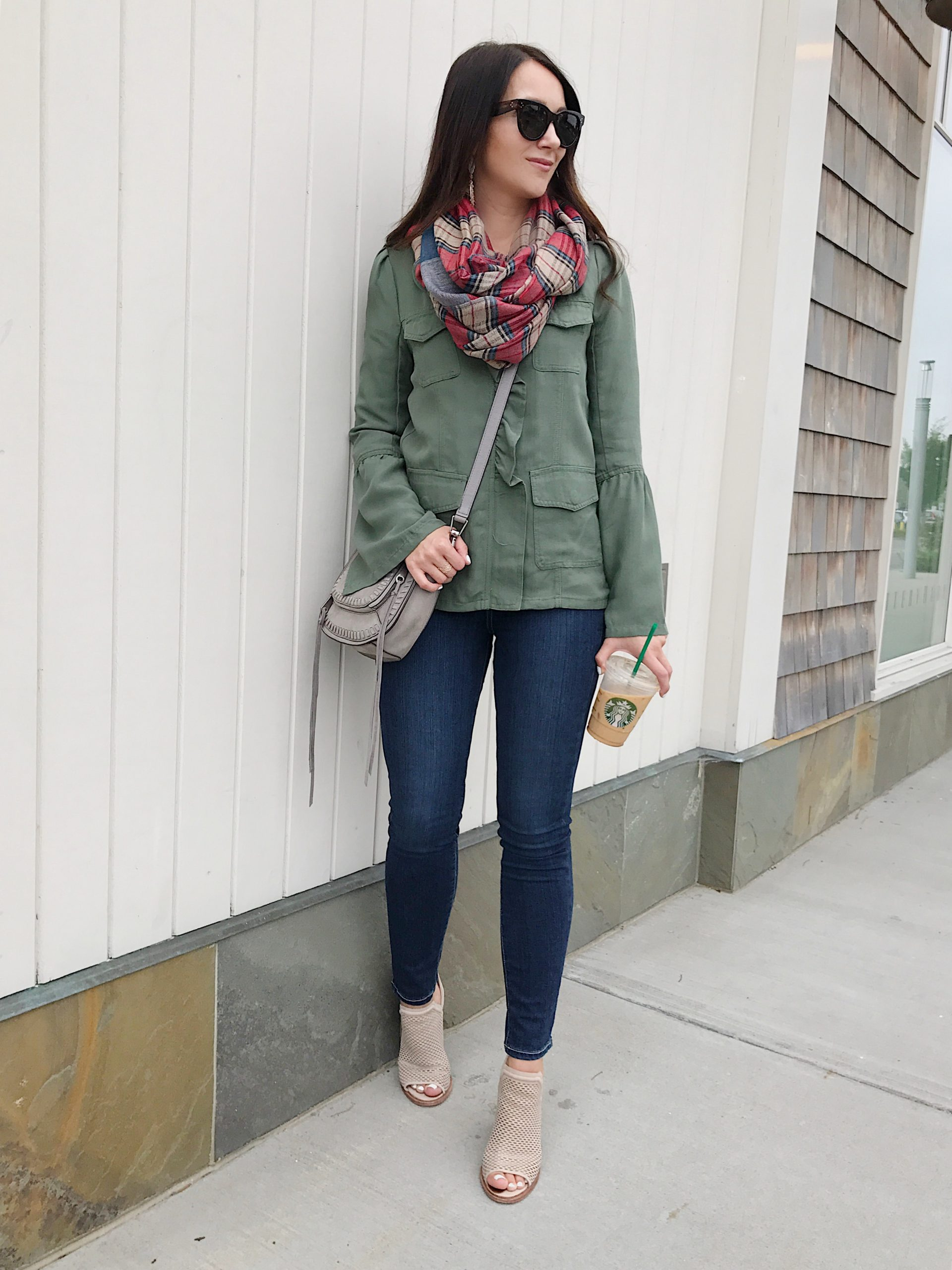 blogger Anna Monteiro of Blushing Rose Style wearing rebecca minkoff bag from nordstrom