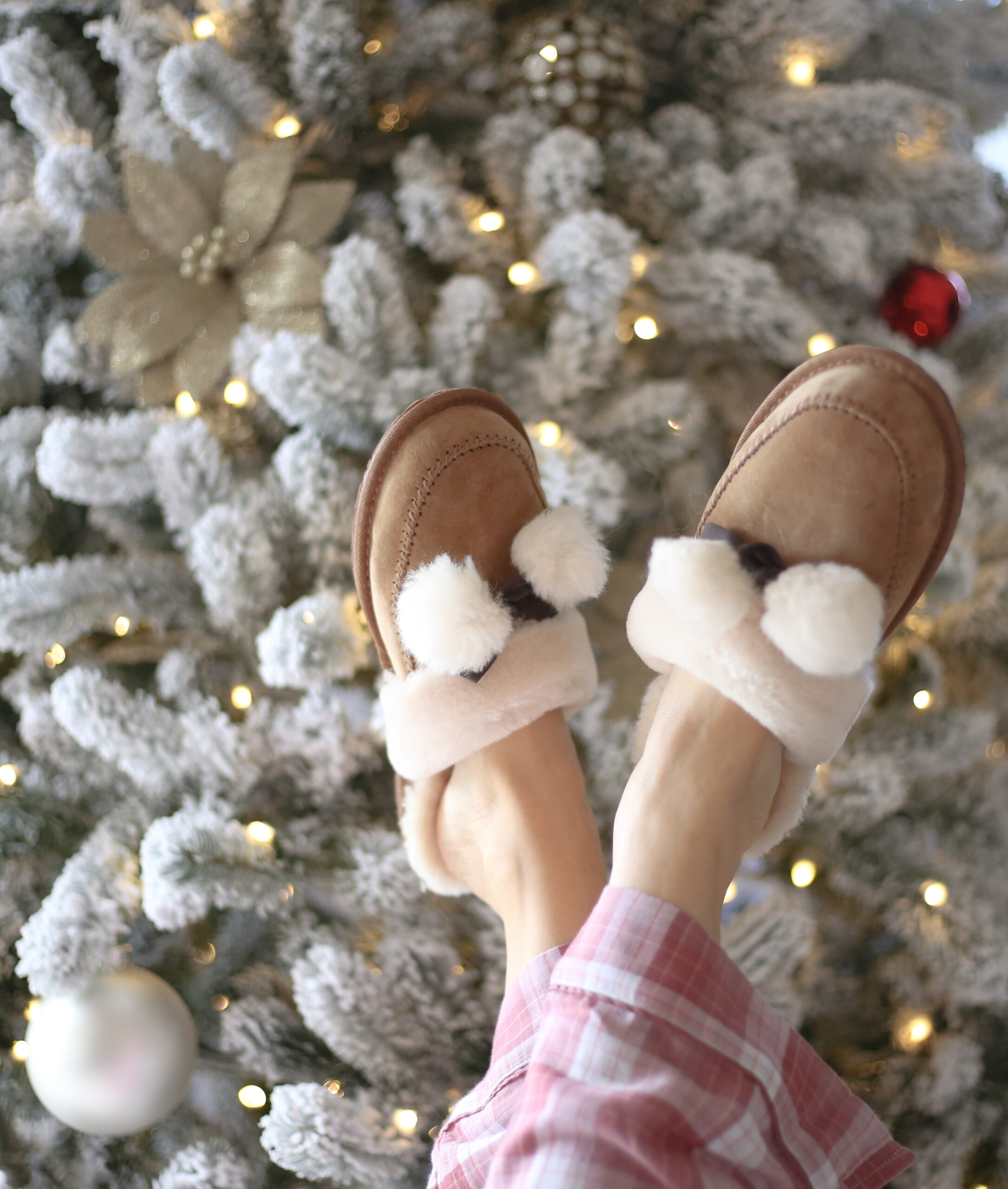 cozy holidays, ugg slippers