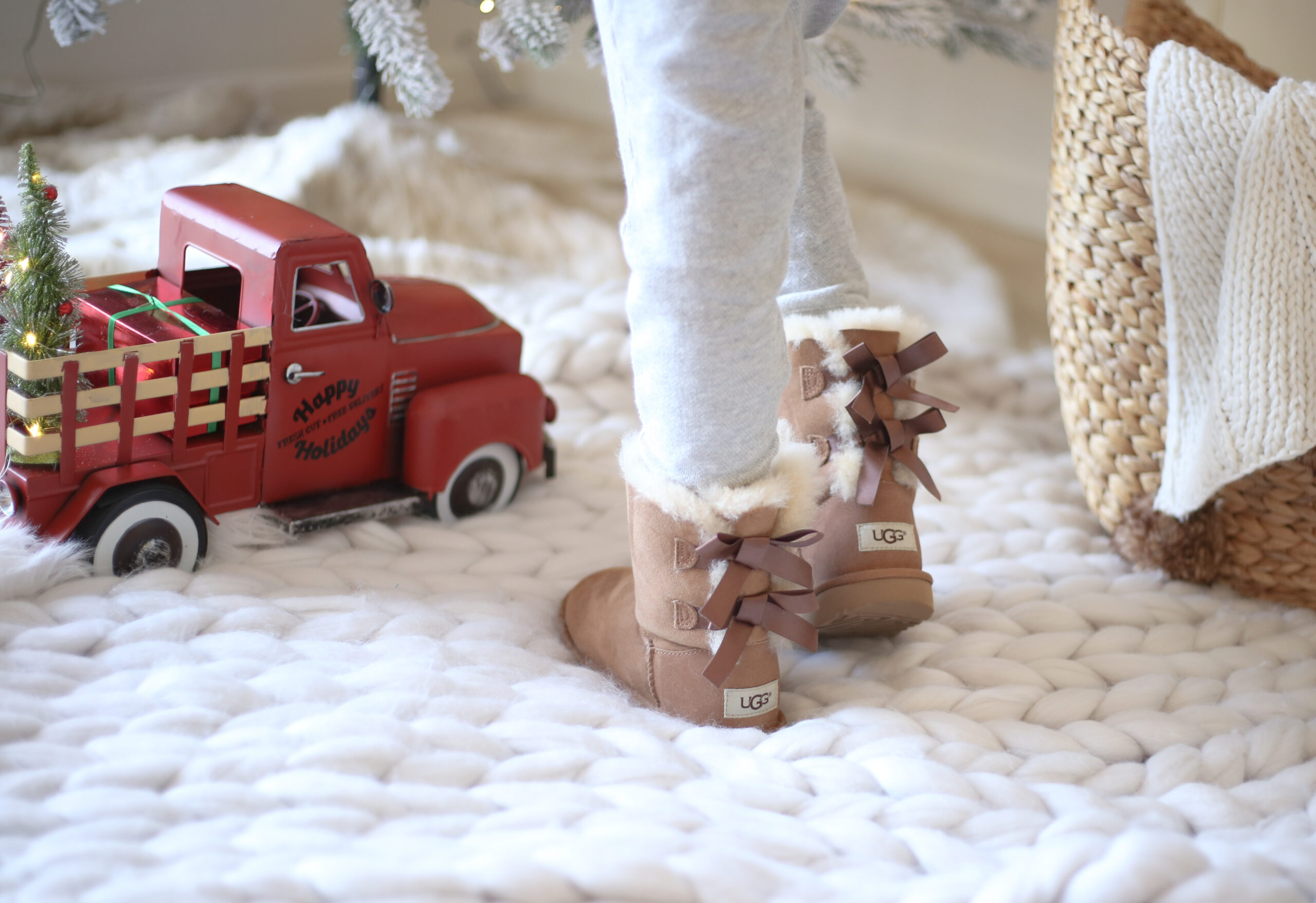 cozy holidays, uggs for kids