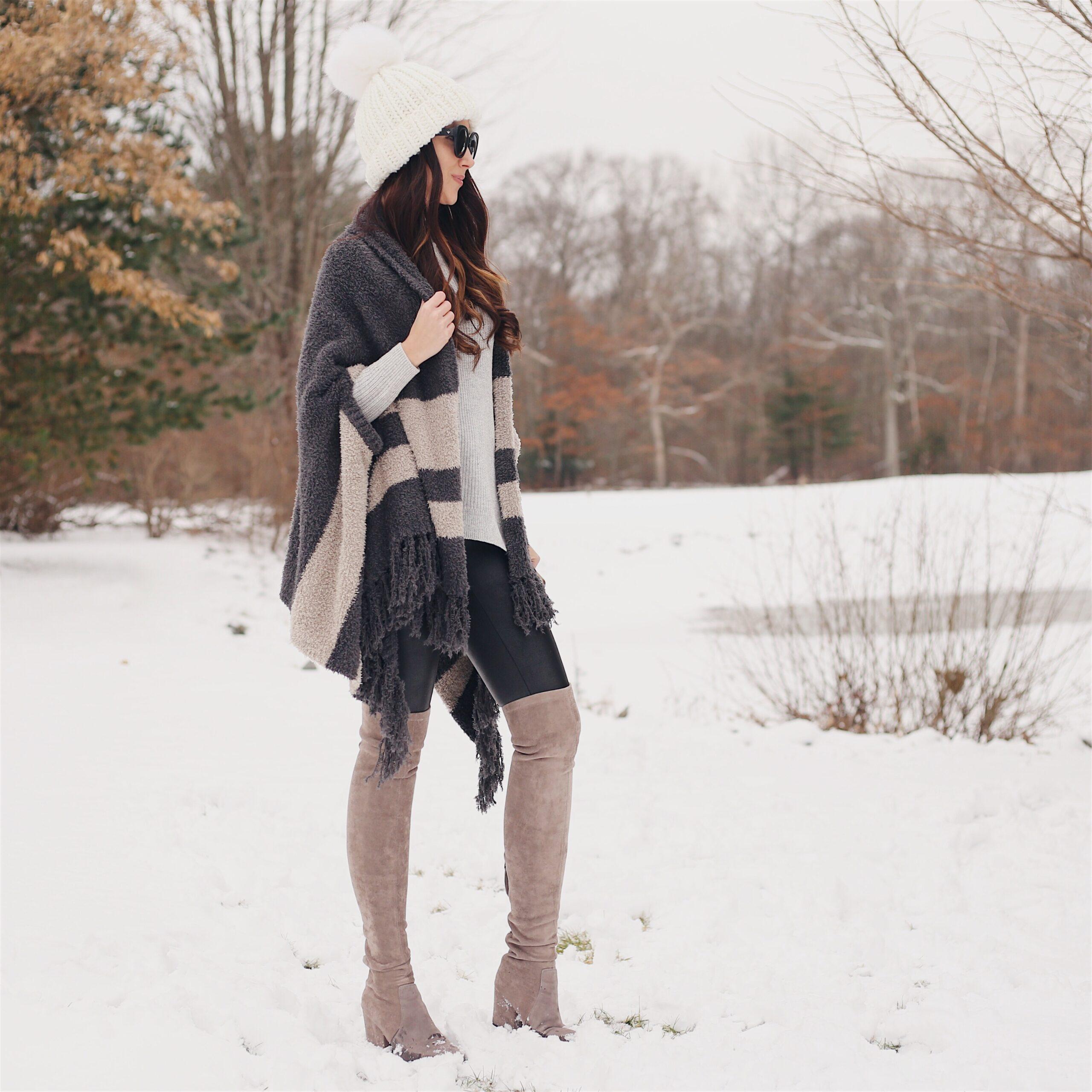 winter fashion, winter outfit, cozy winter look, cozy wrap