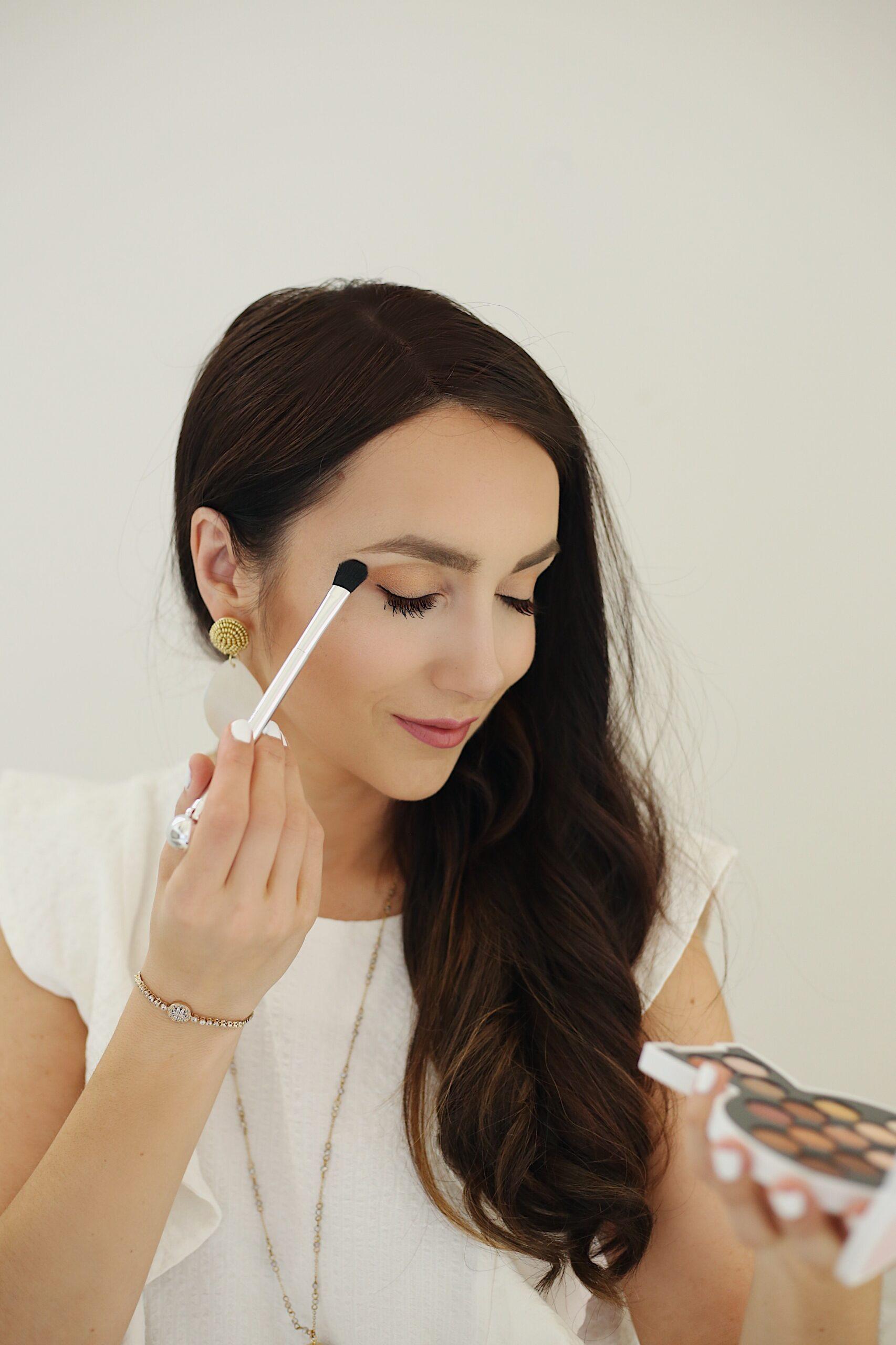 summer glow makeup tutorial, summer eyeshadows, easy summer makeup,