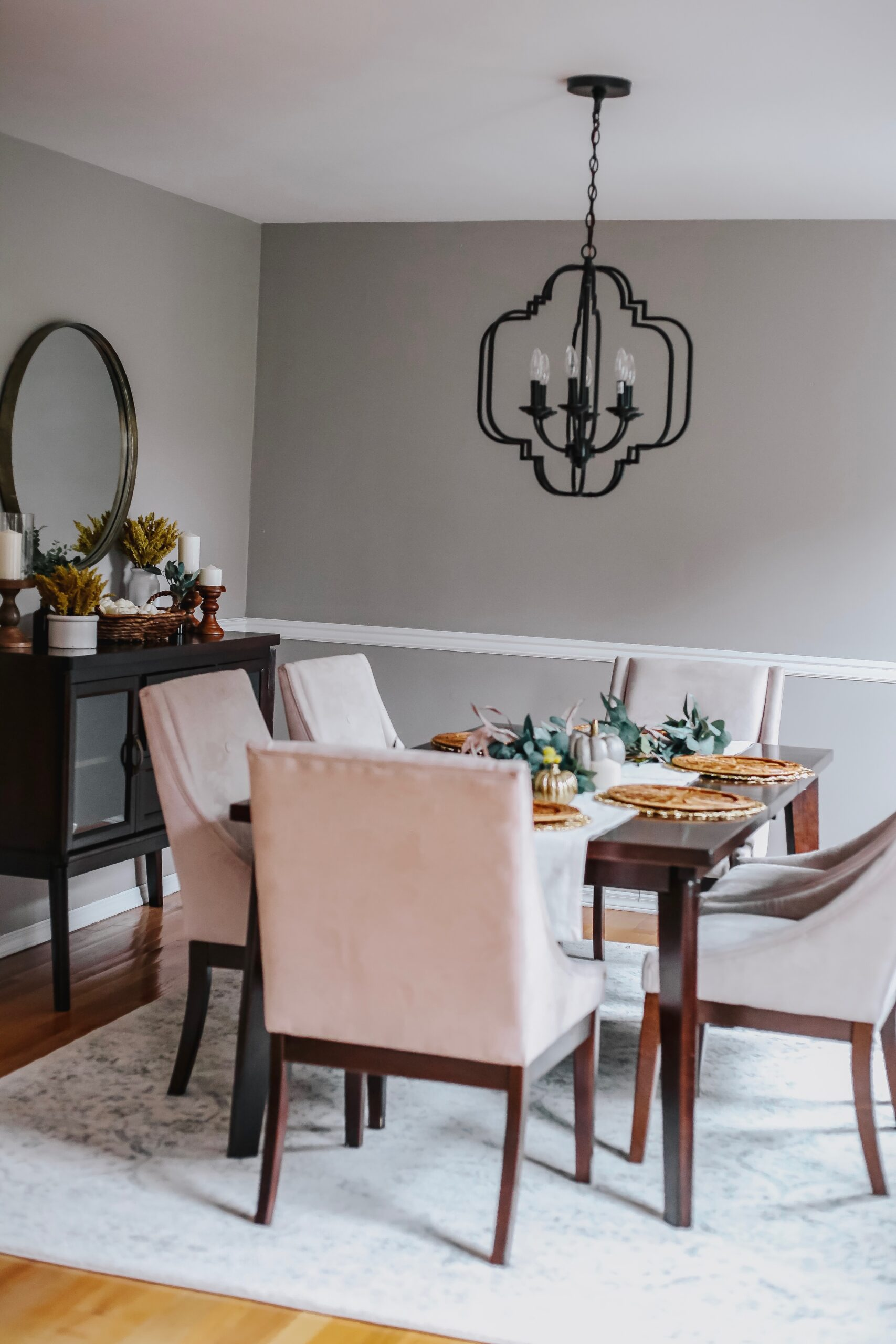 how to give your dining room a makeover, dining room fall decorations