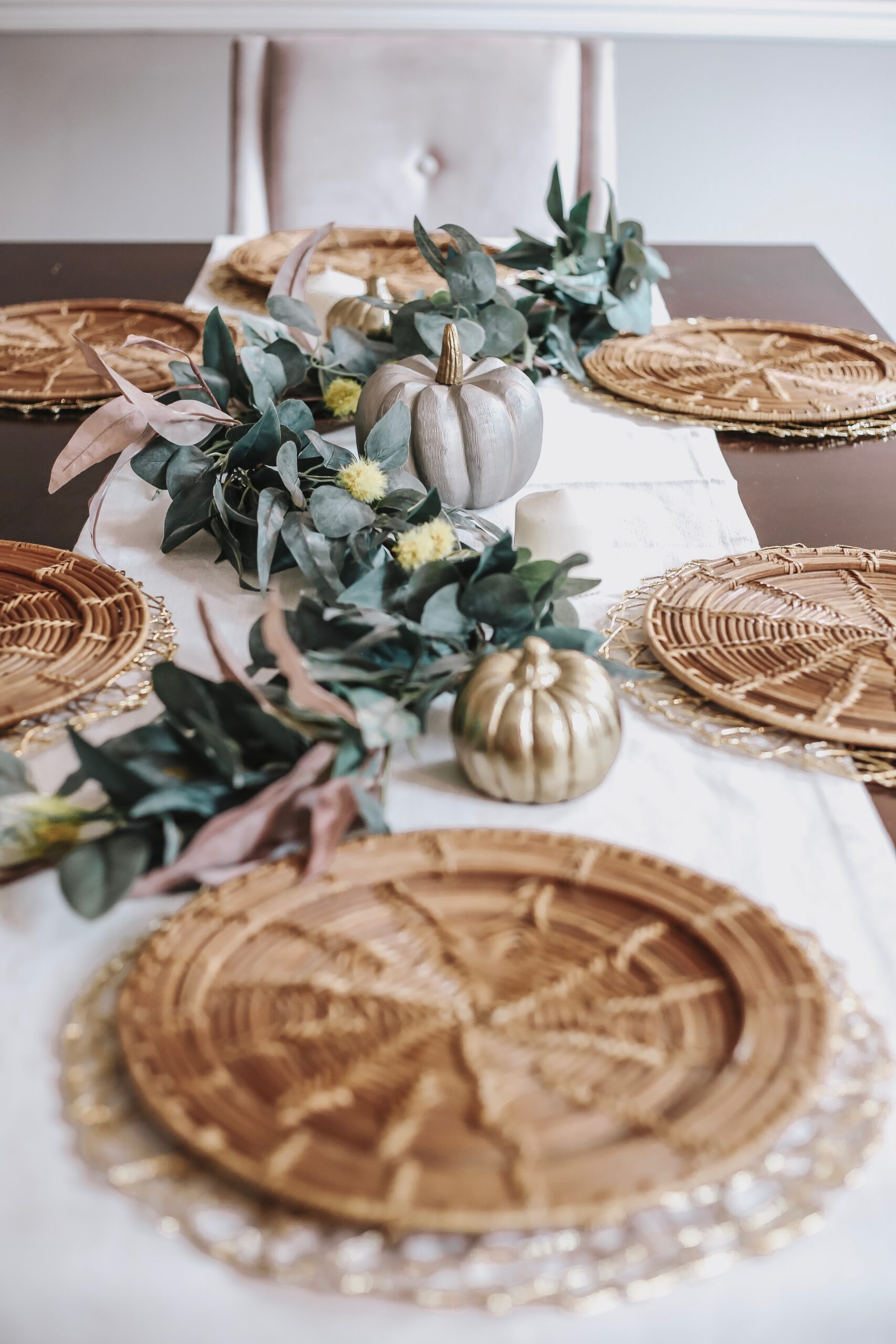 fall tabletop decoration, thanksgiving table decor