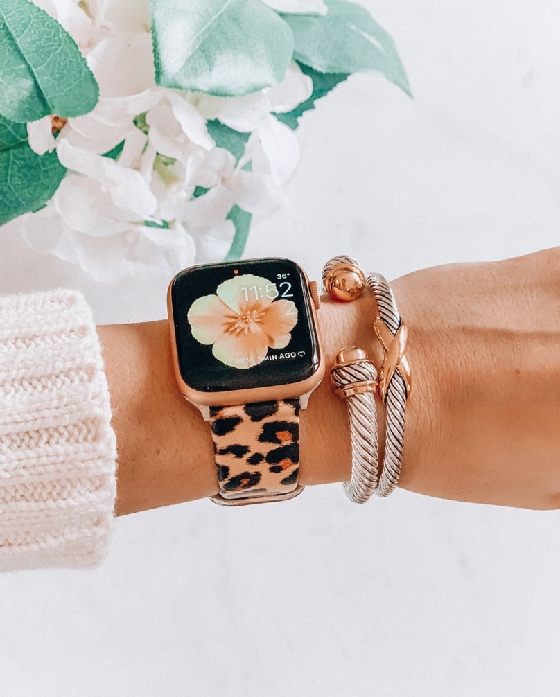 Amazon Finds leopard apple watch bands