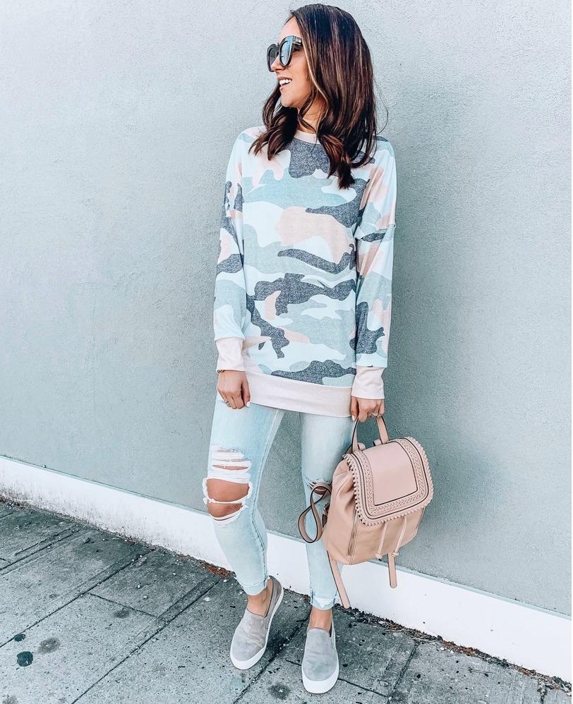 amazon finds - camo sweatshirt