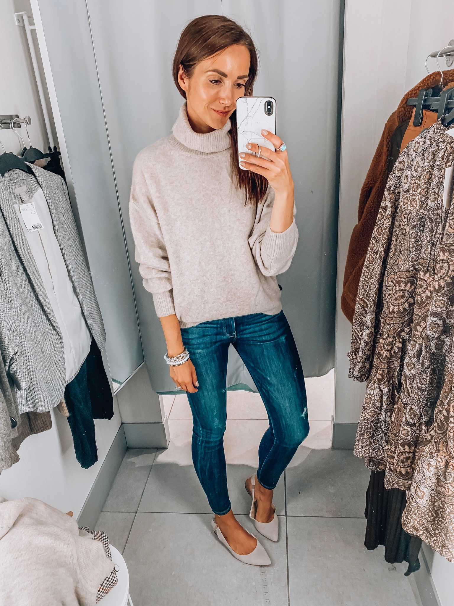 Cowl neck sweater, h&m try-on