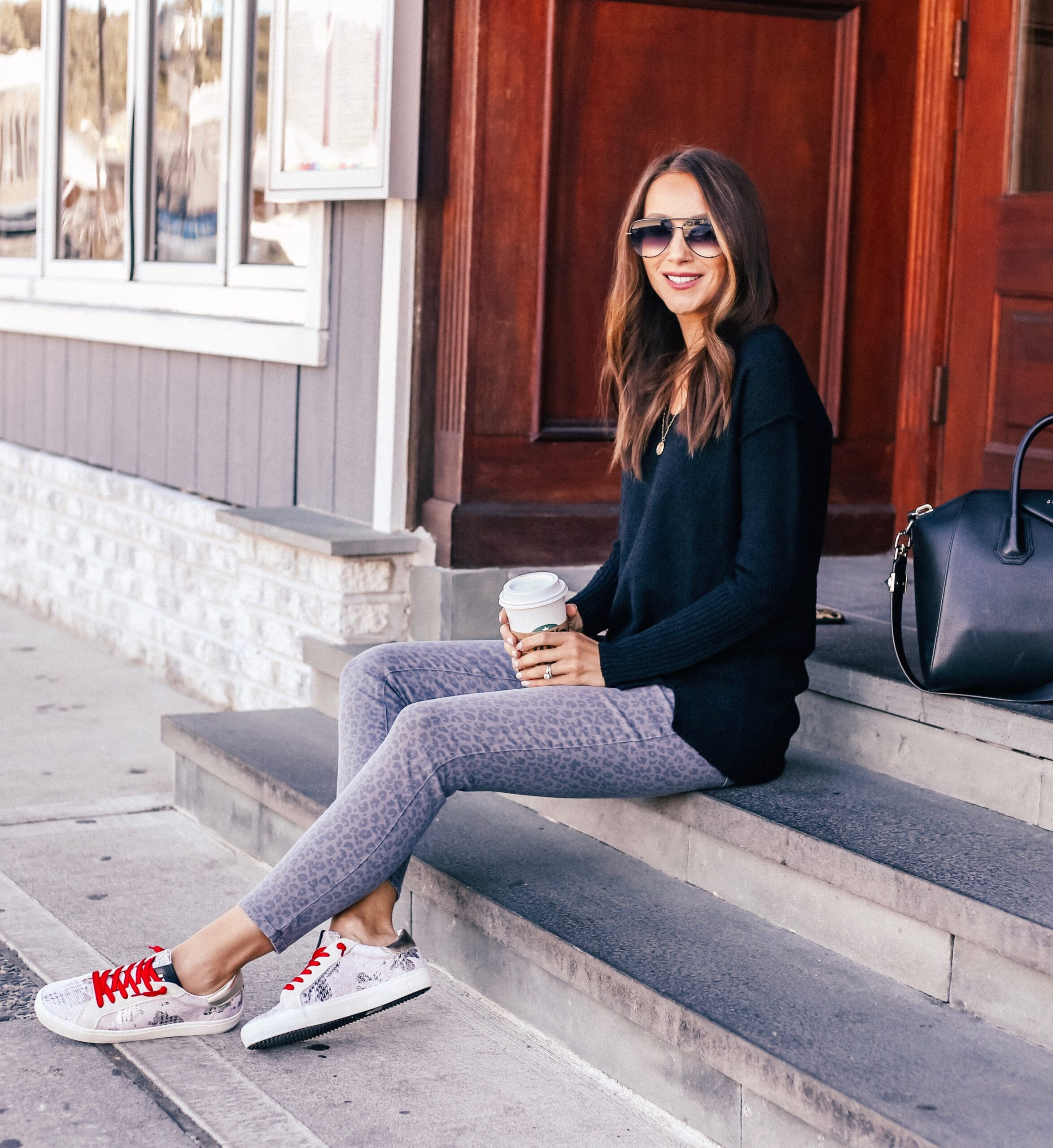 Tunic, Jeans, Sneakers