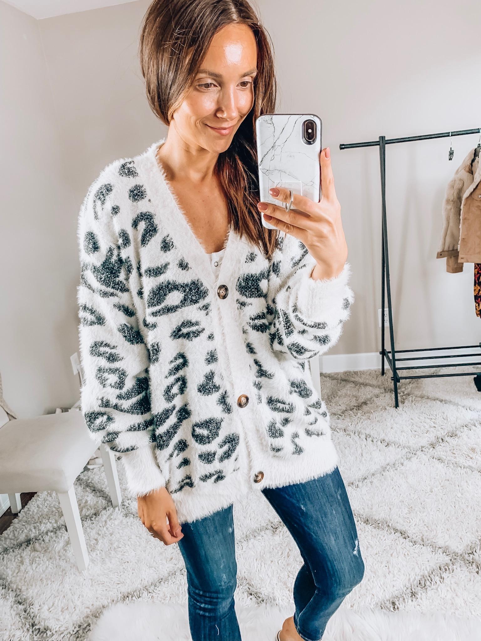 leopard cardigan, amazon