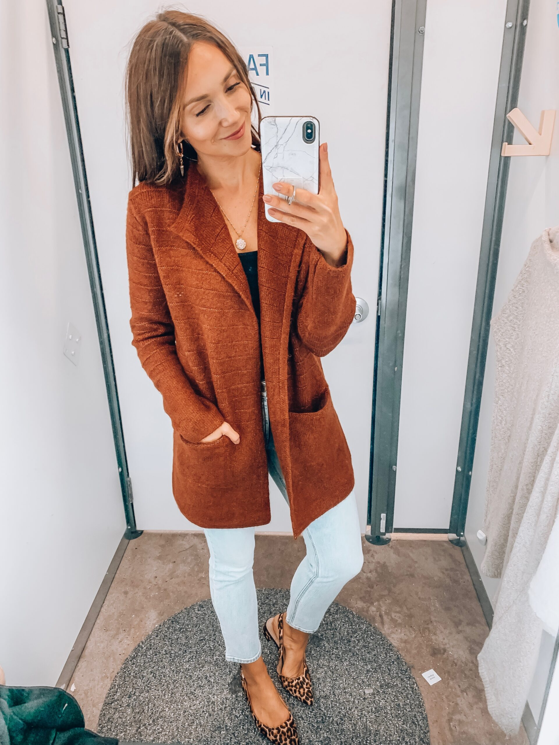 Cardigan, jeans, old navy
