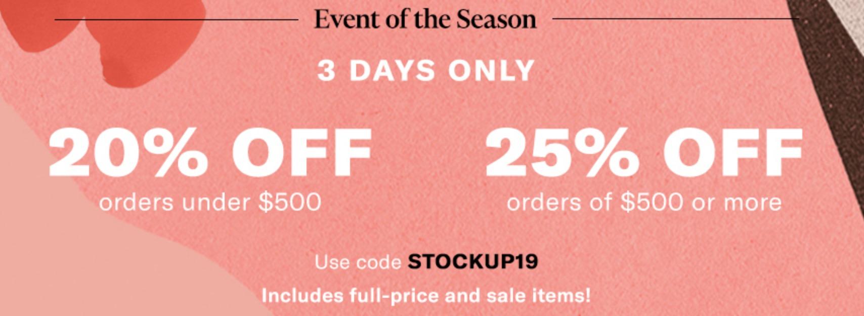 ShopBop Sale – Save 20-25%