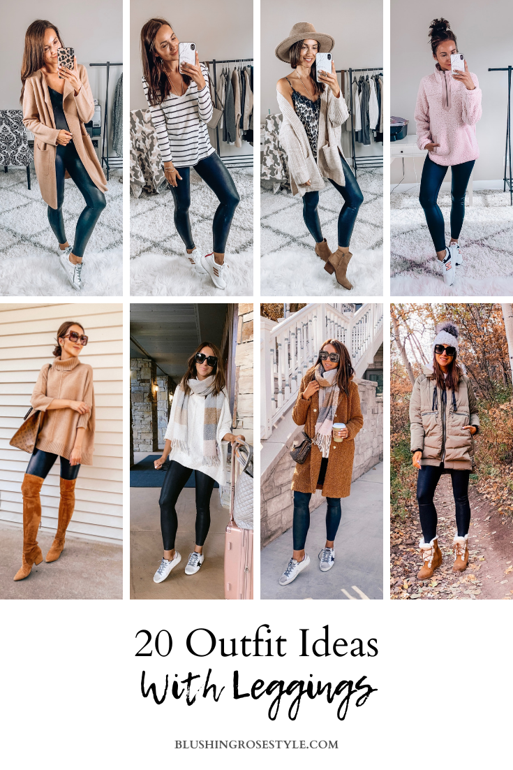 20 Outfit Ideas With Leggings Blushing Rose Style Blog