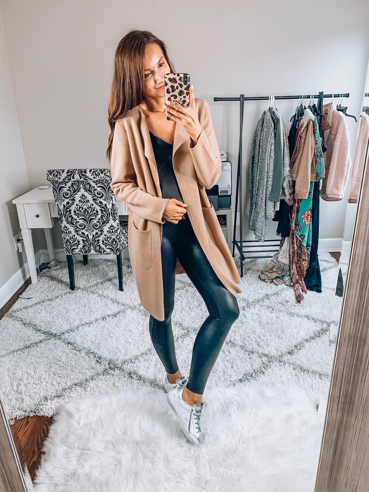 Sweater Blazer, Spanx Leggings