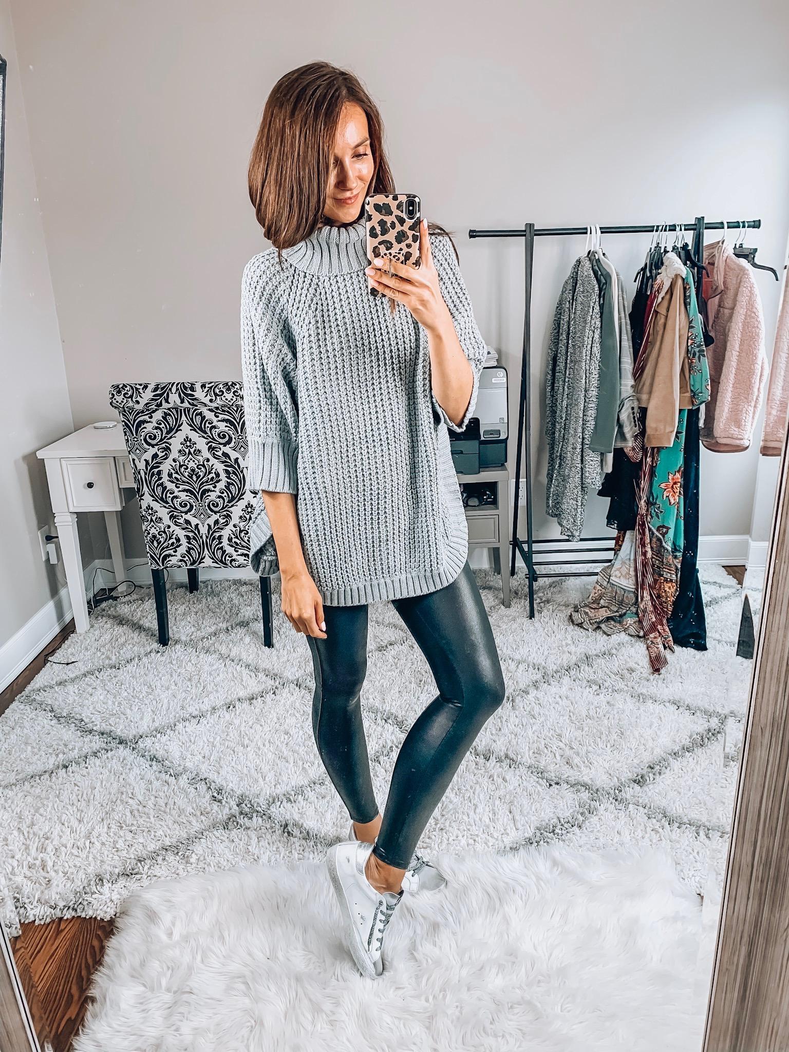 J.Crew Sweater, Spanx Leggings
