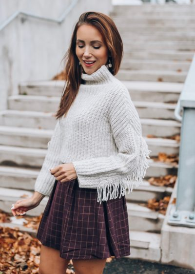 Sweater, Plaid Skirt, Fall Style