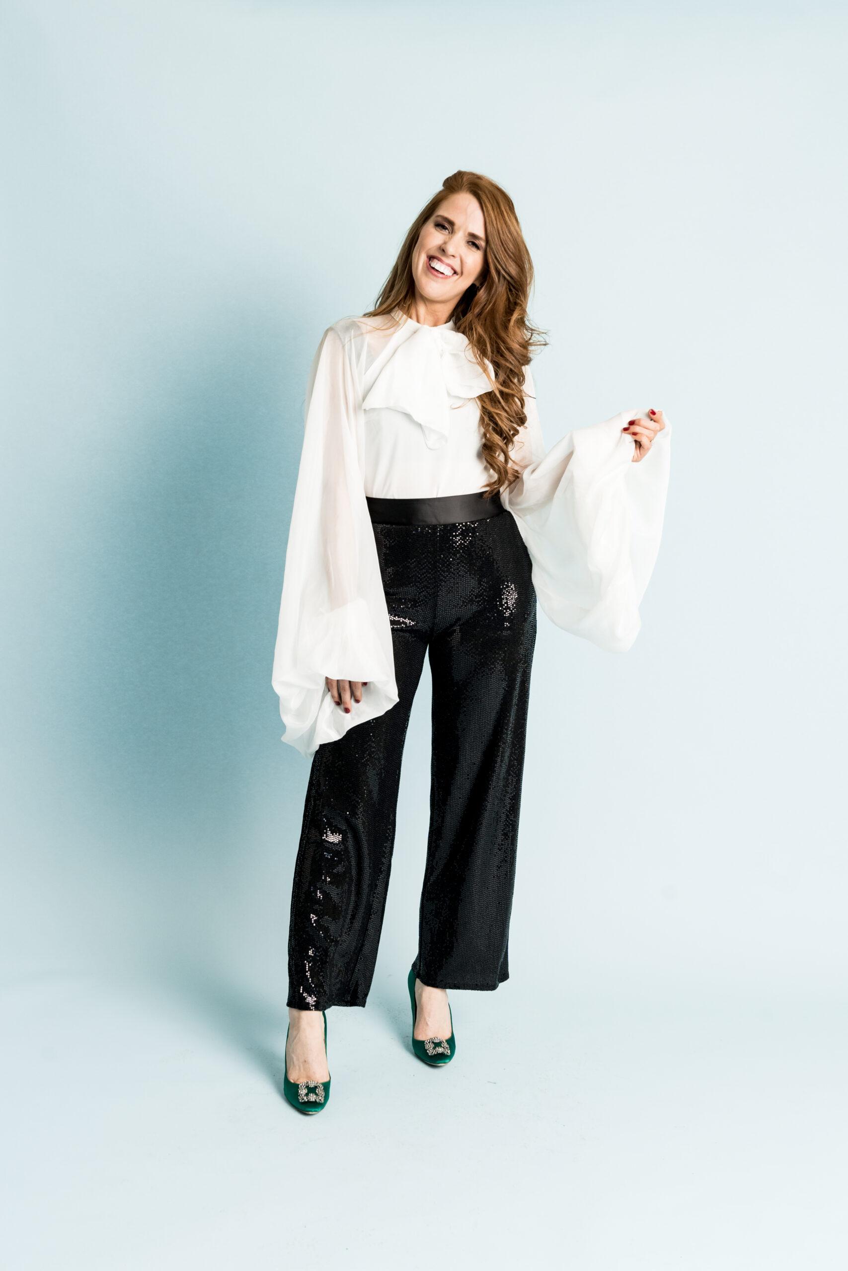 Tara Gibson Wide Leg Sequin Pant