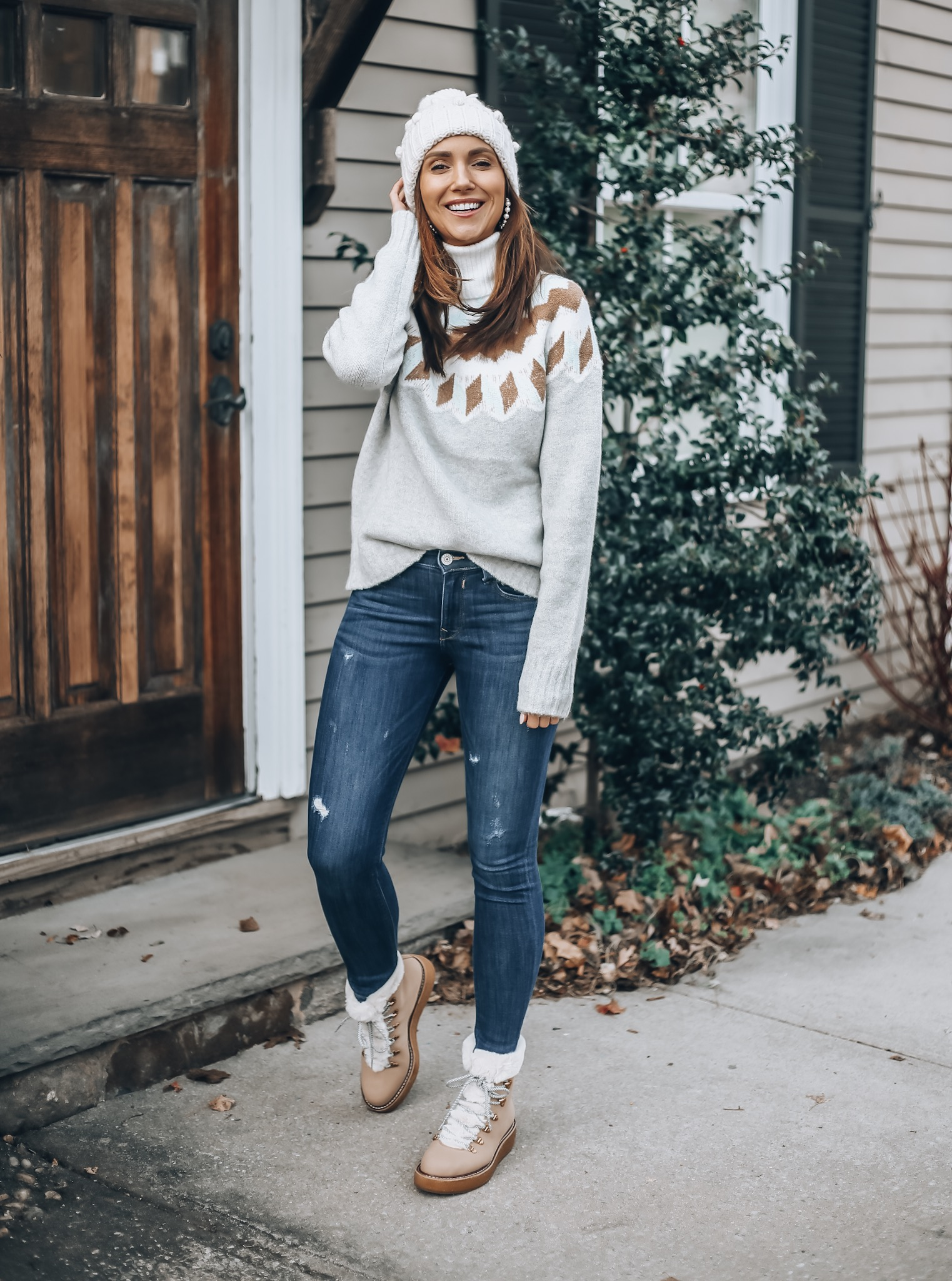 Fair Aisle Sweater, Jeans, Boots