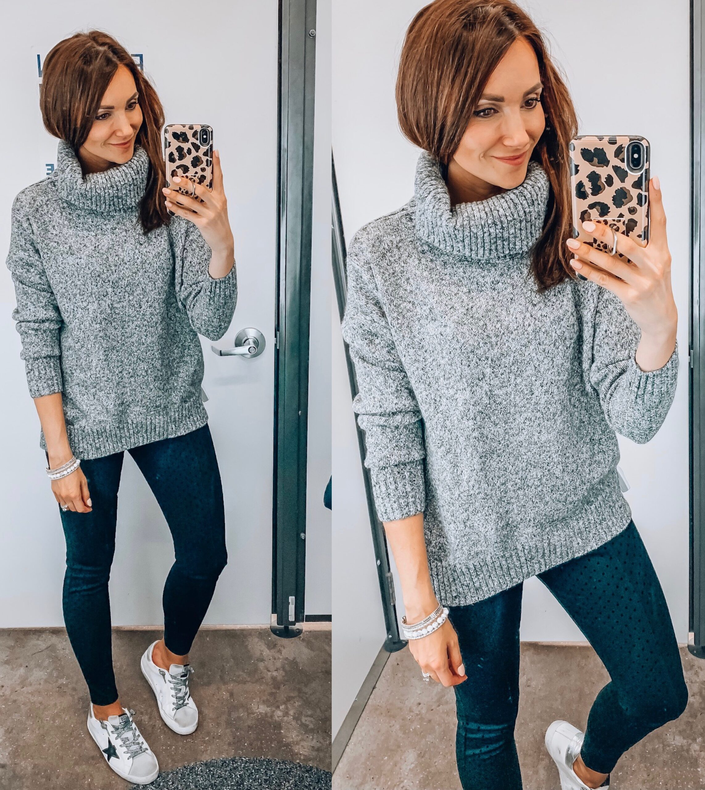 turtleneck sweater, pants, sneakers, fall outfit