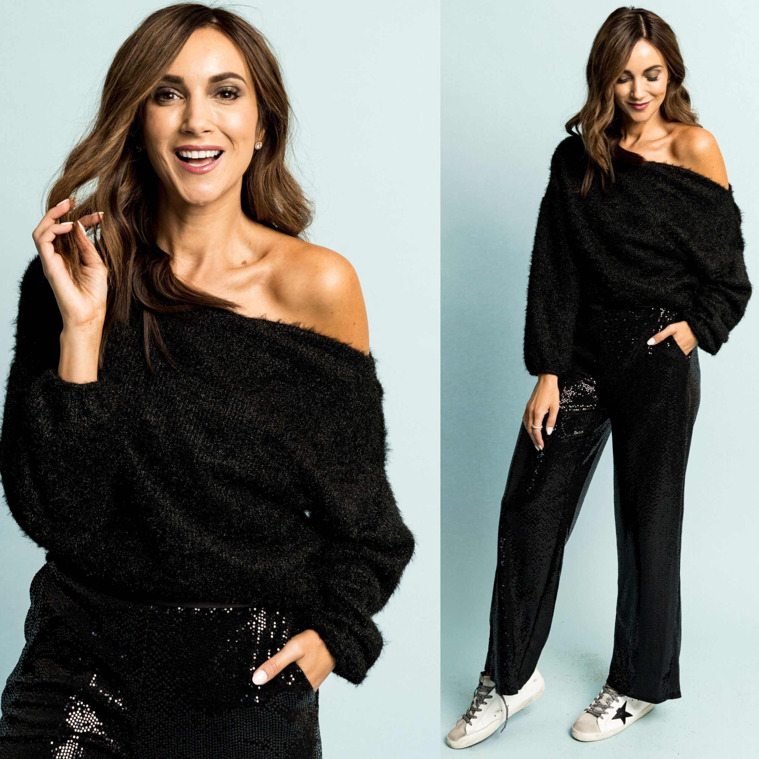 gibsonxglam, off the shoulder sweater