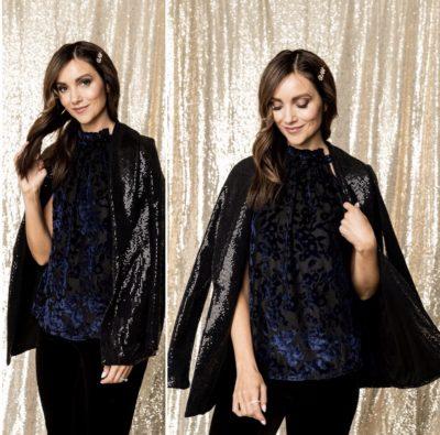 Velvet Top, Sequin Blazer