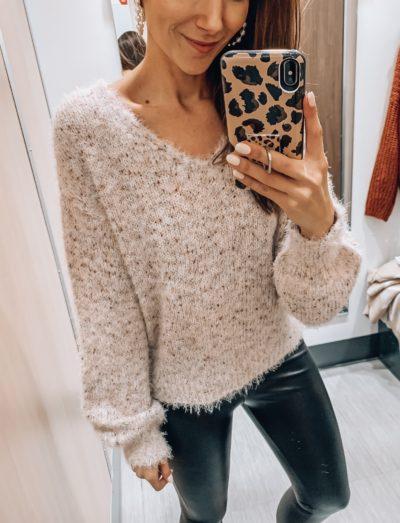 Sweater, Faux Leather Leggings