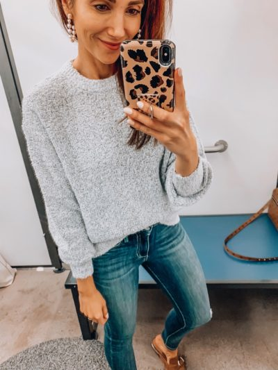 SWEATER, JEANS,MULES