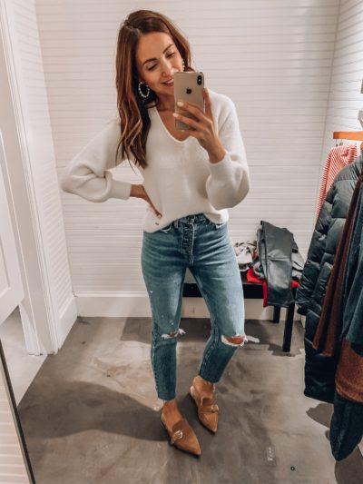 Abercrombie Sweater, Jeans