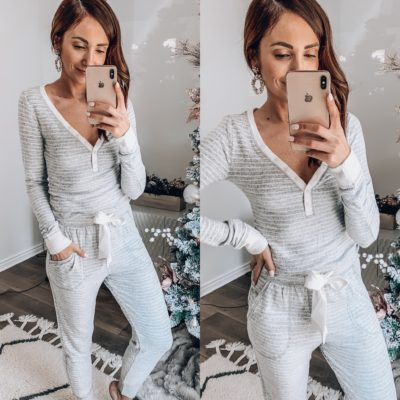 ABERCROMBIE HOLIDAY STRIPED PJS
