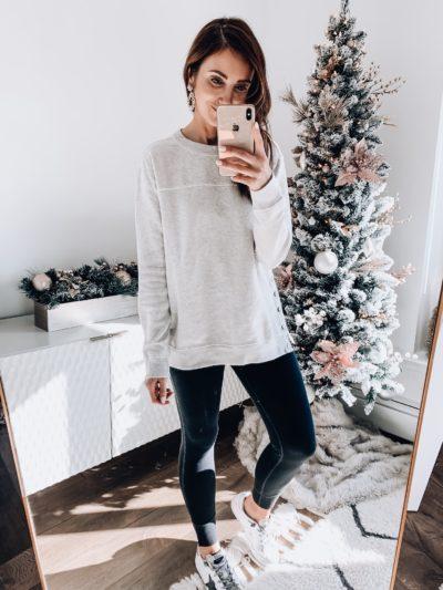 Abercrombie Sweatshirt, Abercrombie Fleece leggings
