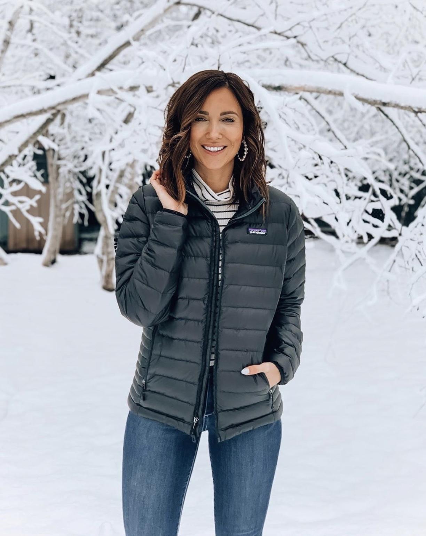 woman wearing patagonia