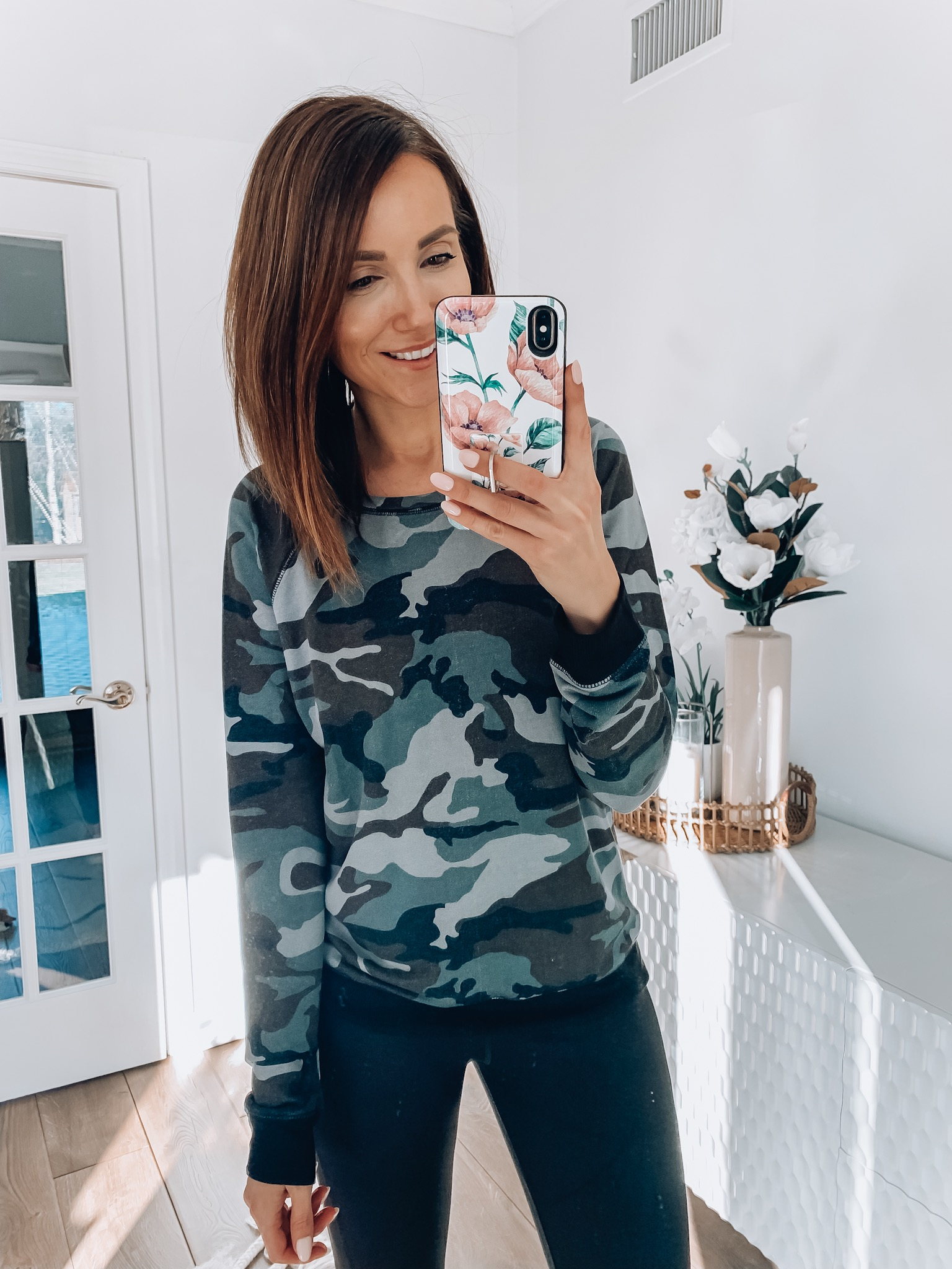 woman wearing athleisure wear
