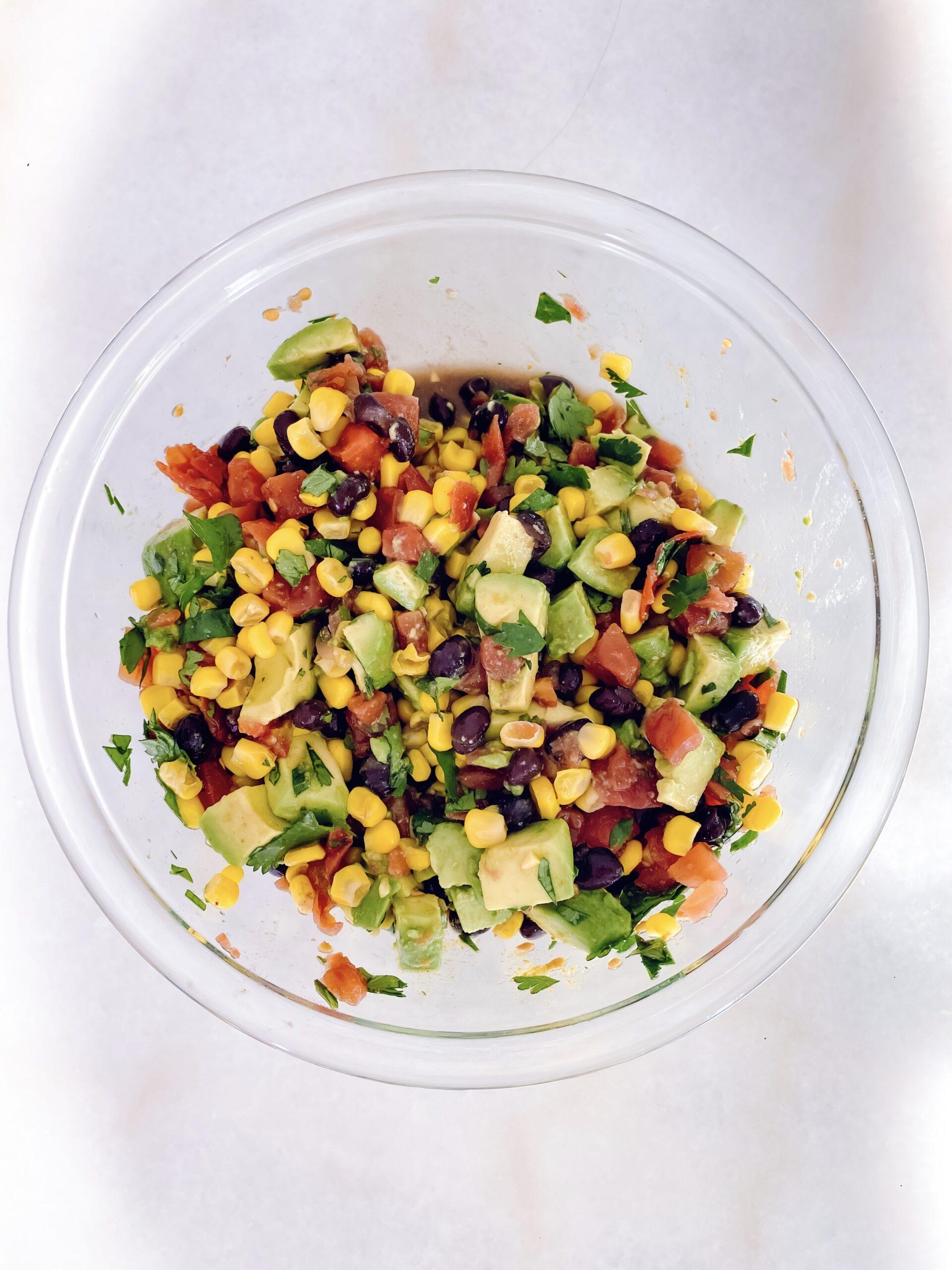 corn bean dip, cowboy caviar, salsa recipe